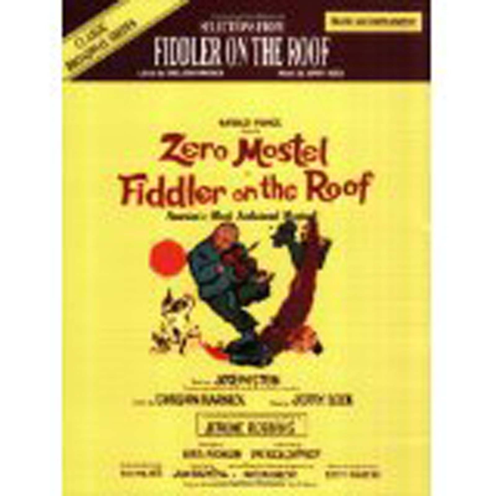 Fiddler On The Roof Selections Piano Accompaniment Sheet Music Book Songbook S09