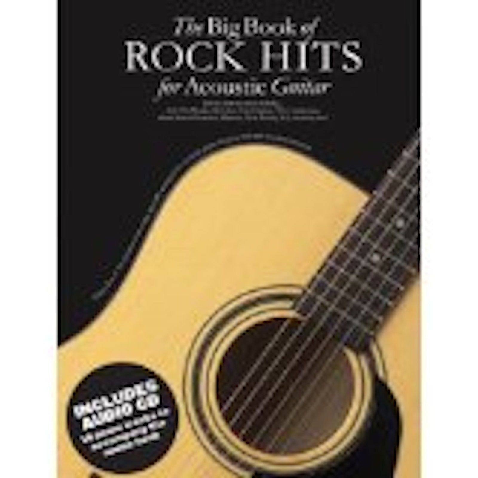 The Big Book Of Rock Hits Acoustic Guitar TAB Anthology Sheet Music CD B47 S67
