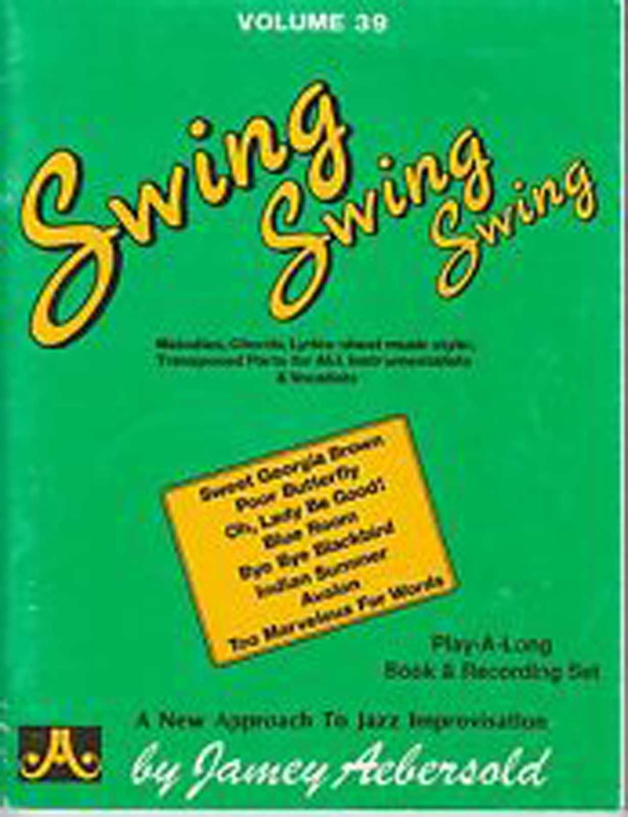 Swing Swing Swing Aebersold Lead Sheet Music Book Jazz Practice Improvising B84