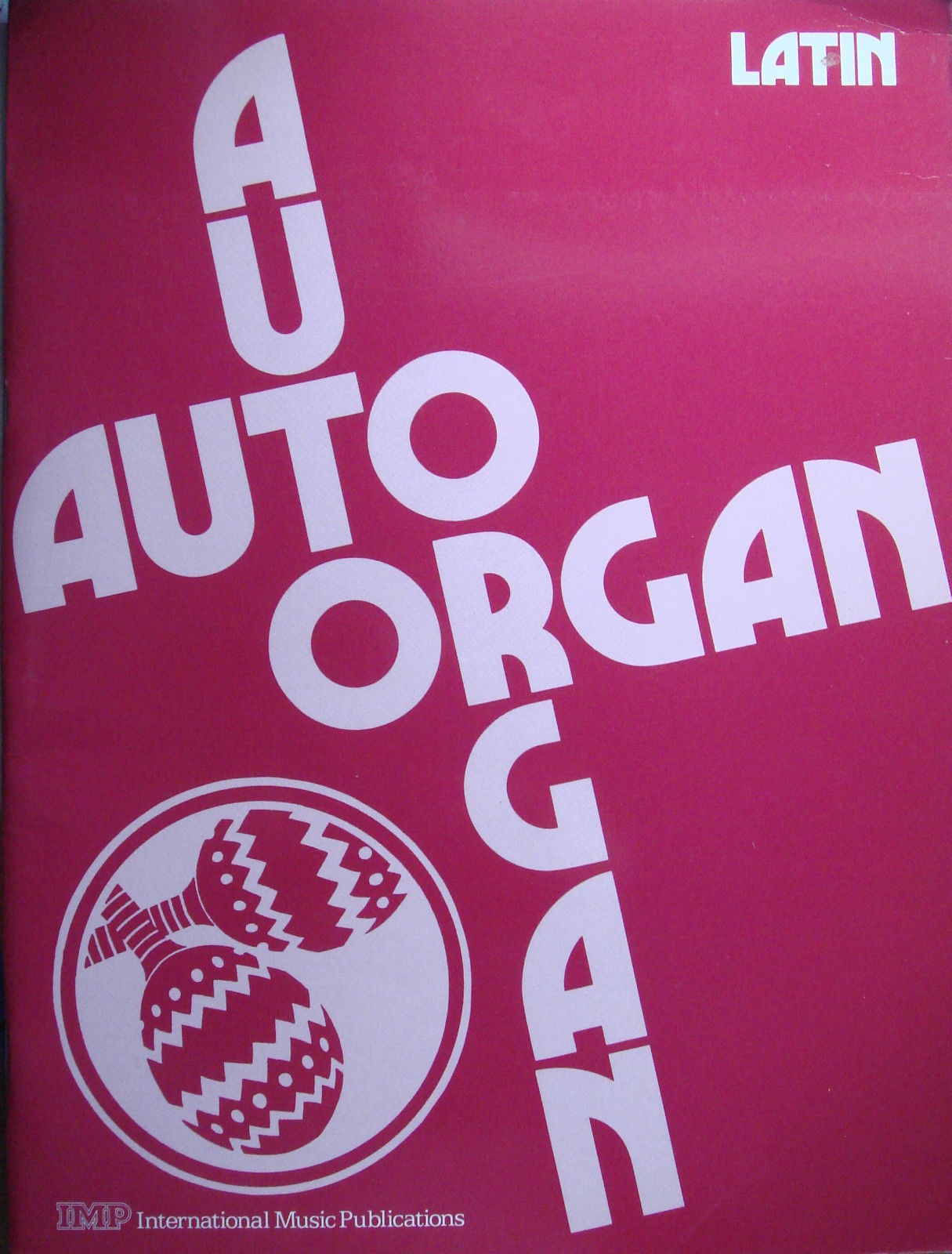Jack Moore Auto Organ Automatic Keyboard Organ Latin Book Melody Chords  B43