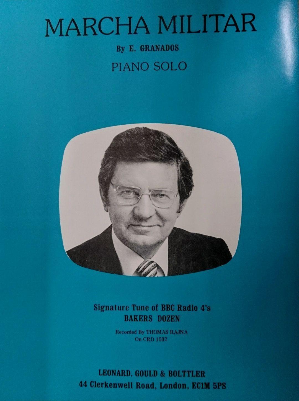 Marcha Militar Piano Radio 4 Theme Baker's Dozen Granados Arr Sylvia De'Ath S159