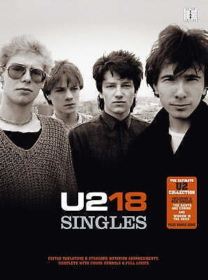 U2 18 Singles Guitar TAB Book Ultimate Collection Songbook B51