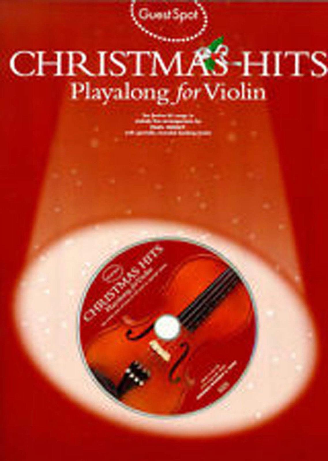 Guest Spot Christmas Hits Playalong Violin Book CD Festive B73