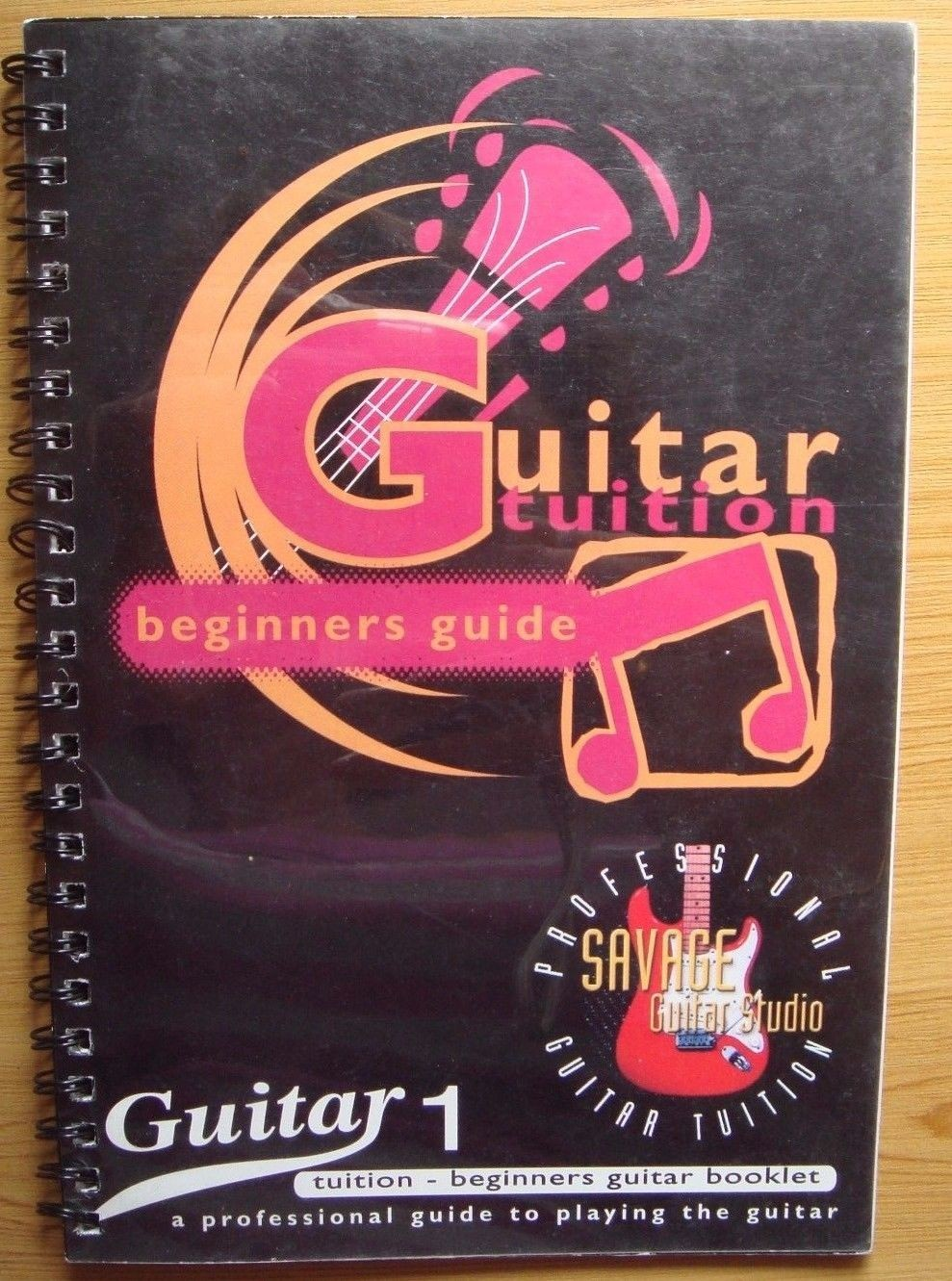 Guitar Tuition Beginner's Pocket Guide Booklet Book 1 Learn To Play Easy S104