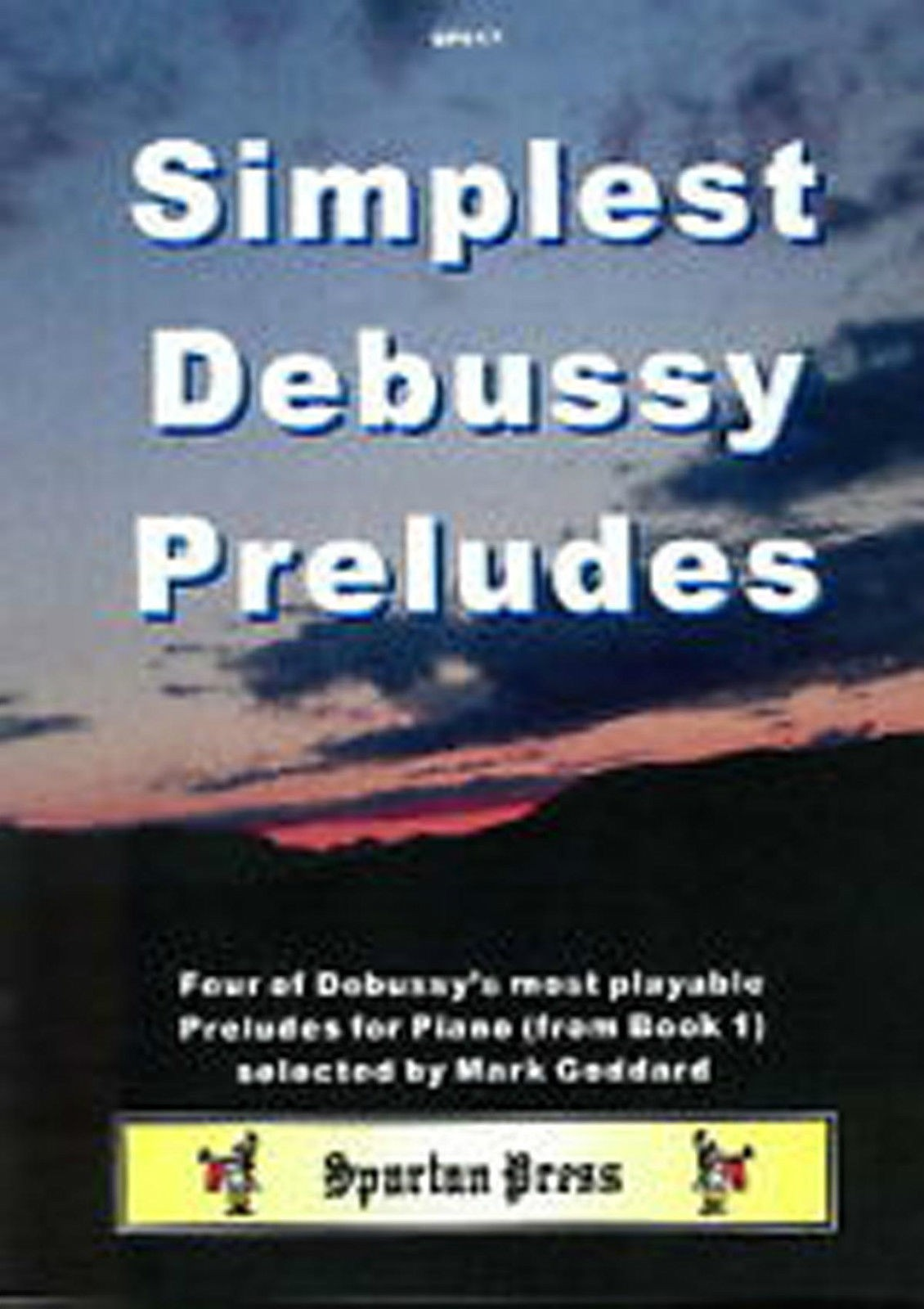 Simplest Debussy Preludes Piano Music Book Intermediate to Advanced Goddard B29