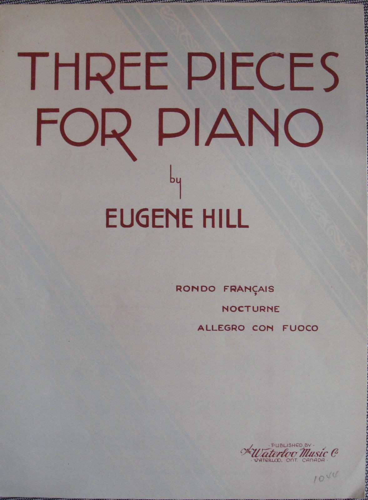 Three Pieces for Piano Solo Sheet Music Book Advanced Eugene Hill B73