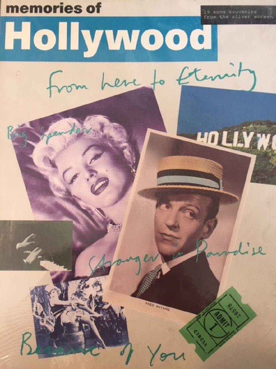 Memories of Hollywood 19 Songs Songbook Sheet Muisc Piano Voice Guitar S26