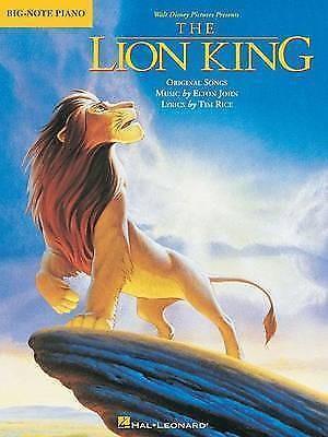 The Lion King Big-Note Piano Easy Disney Soundtracks Hal Leonard Corporation B30