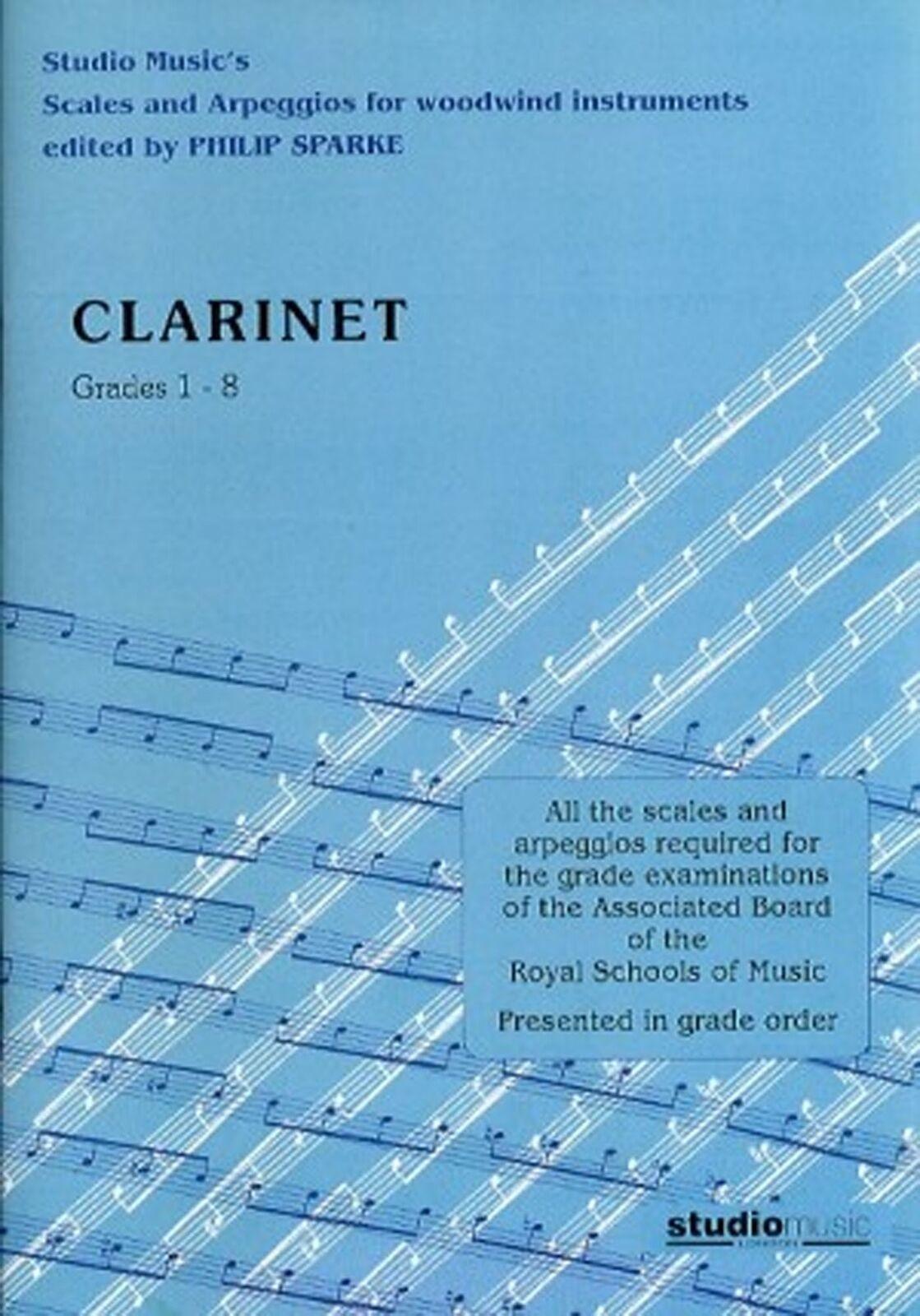 Scales And Arpeggios Clarinet Grade 1-8 ABRSM Exam Book Studio Music S158