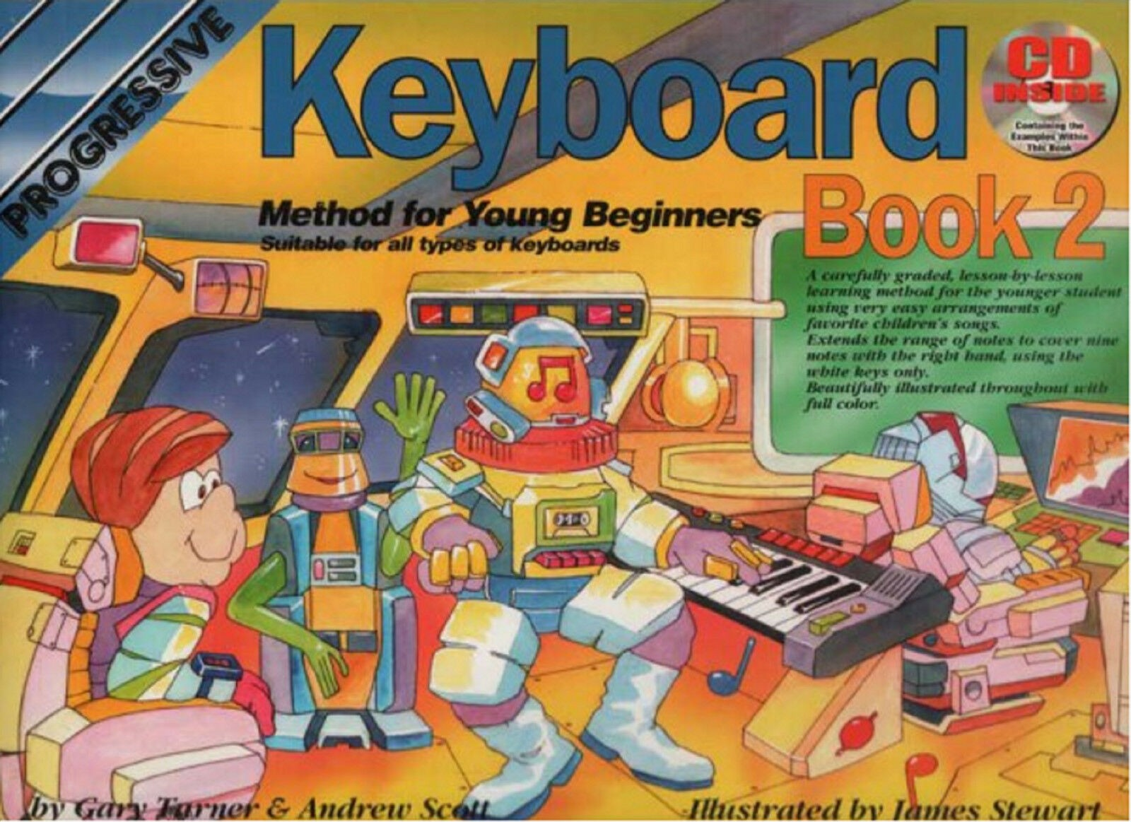 Learn To Play Electronic Keyboard Book 2 & CD Easy Beginners Music Tutor S97