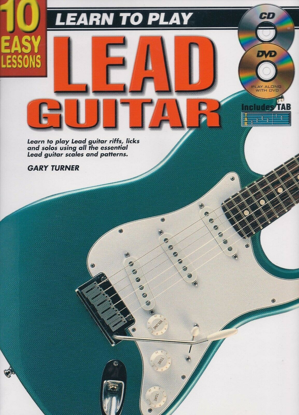 Learn To Play Guitar Electric Lead Music Tutor Book CD & DVD 10 Easy Lessons G2
