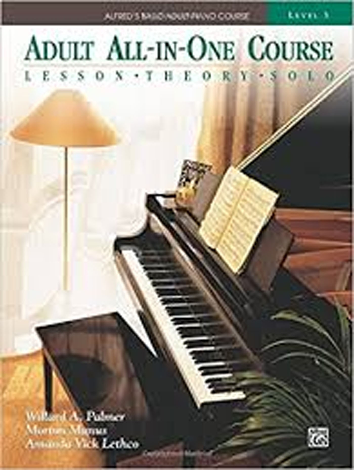 Alfred's Basic Adult All-In-One Piano Course Level 3 Tutor Book S134