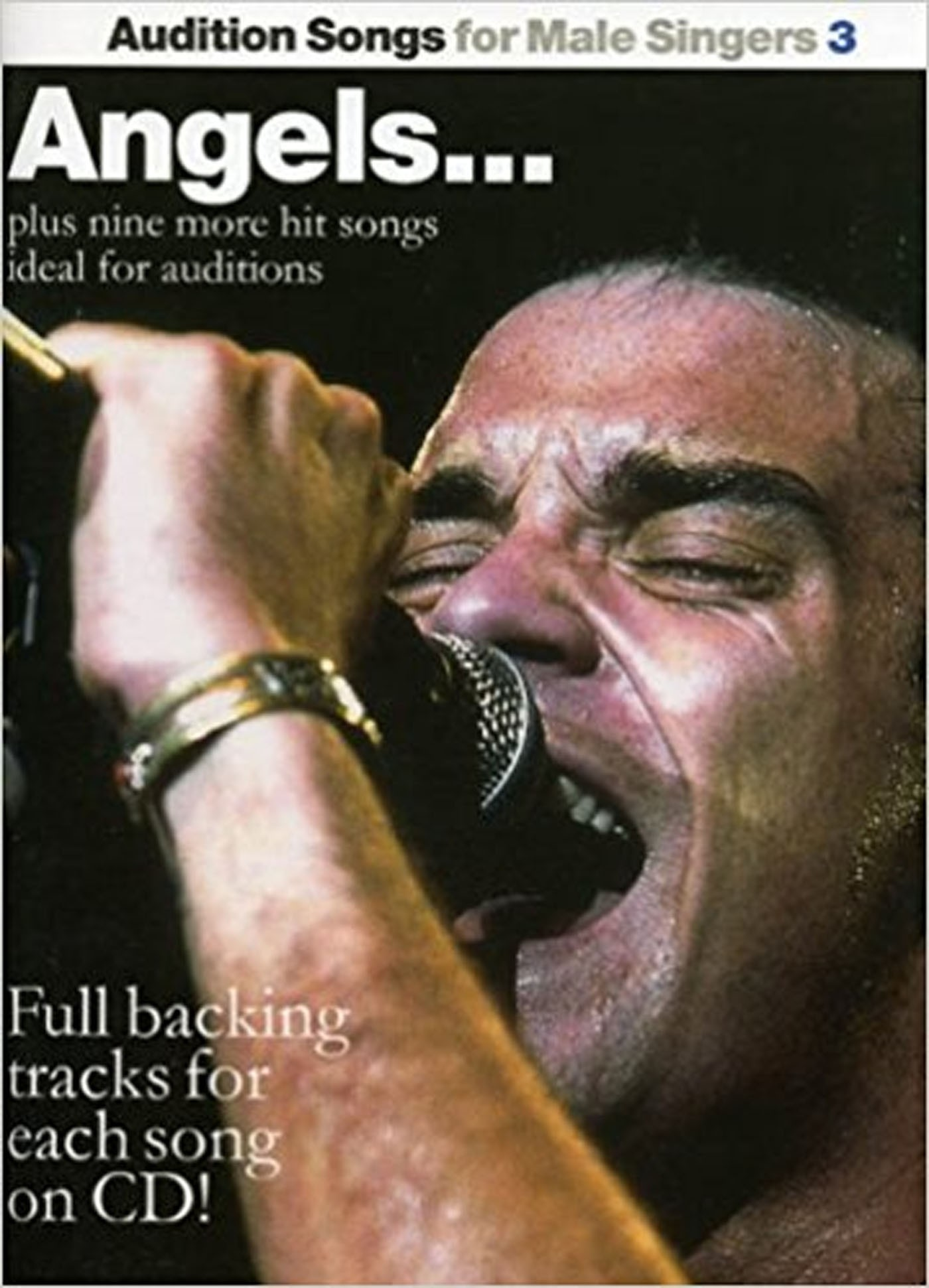 Audition Songs For Male Singers 3 Angels Book CD Robbie Williams & 10 Songs S135