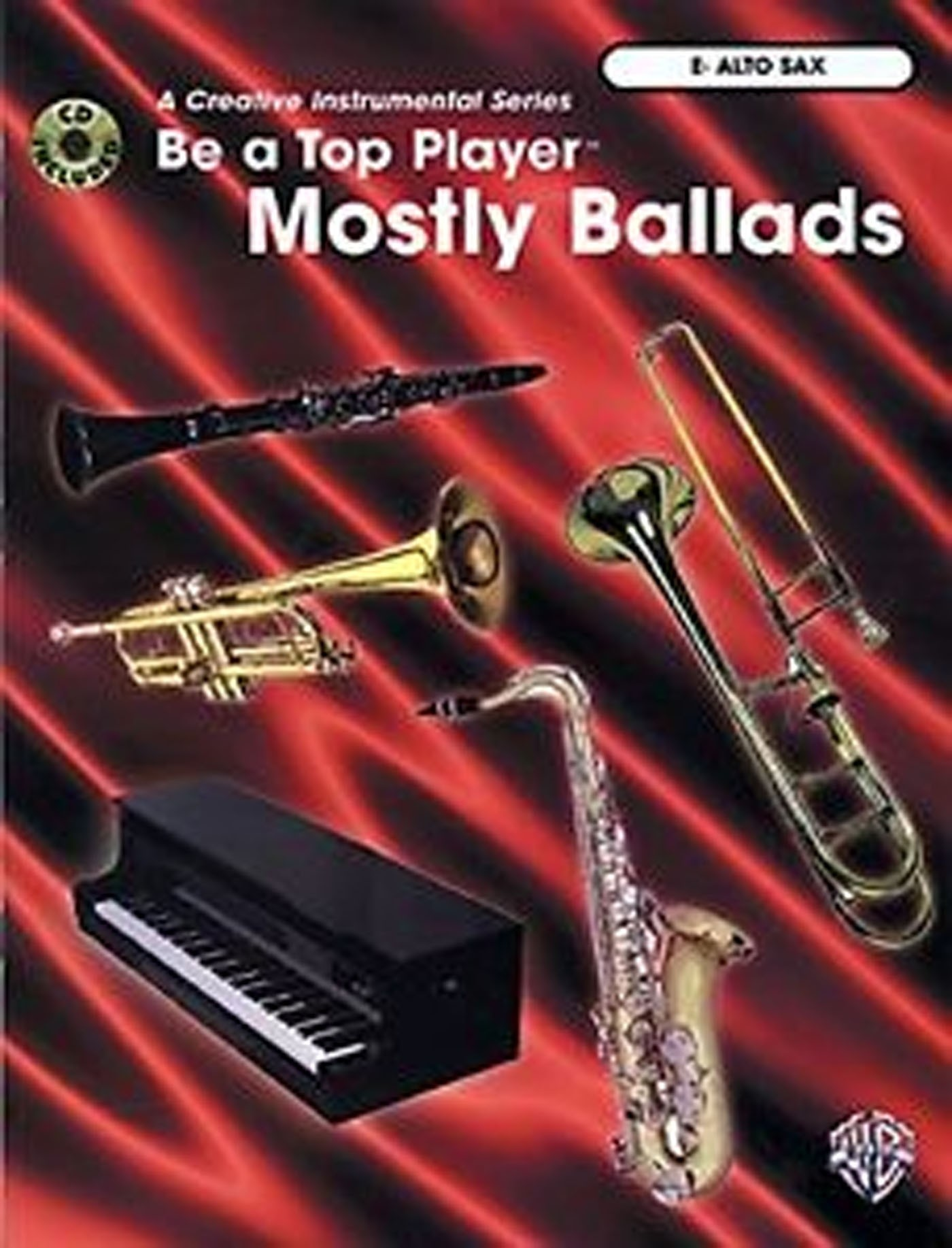 Be A Top Player Mostly Ballads Eb Alto Saxophone Book & CD Orchestral Backing S158
