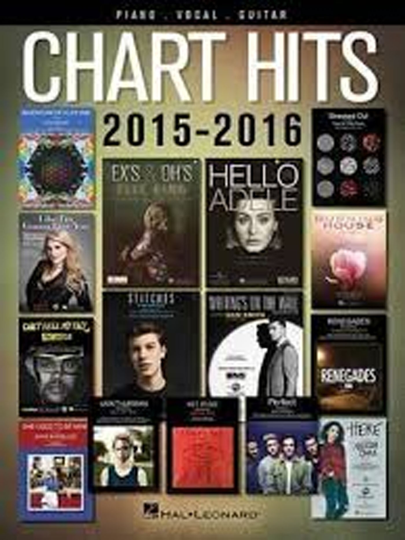 Chart Hits 2015-2016 Piano Vocal Guitar Book Adele One Direction Coldplay S147