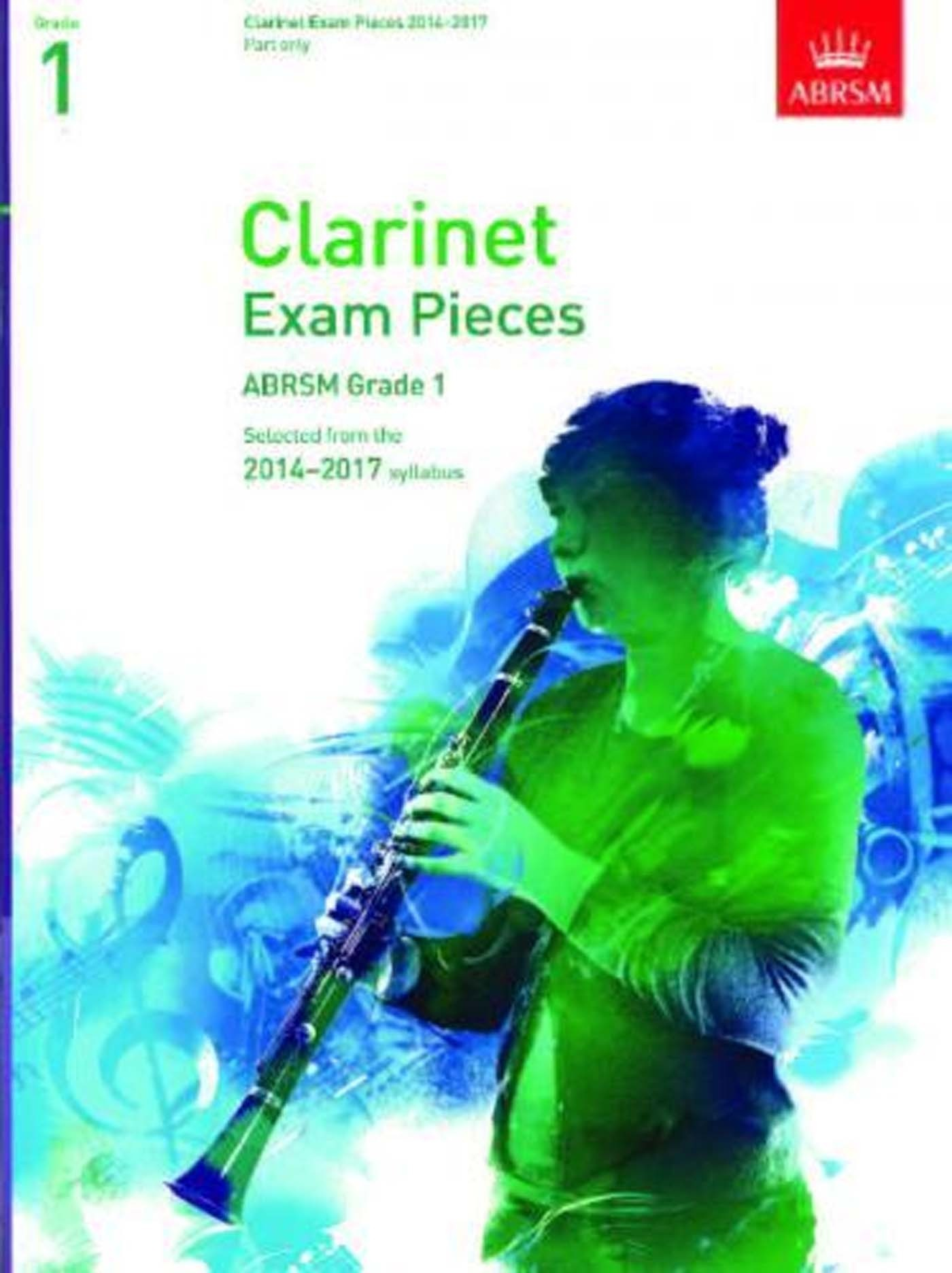 Clarinet Exam Pieces ABRSM Grade 1 2014-2017 Book Score & Part S98