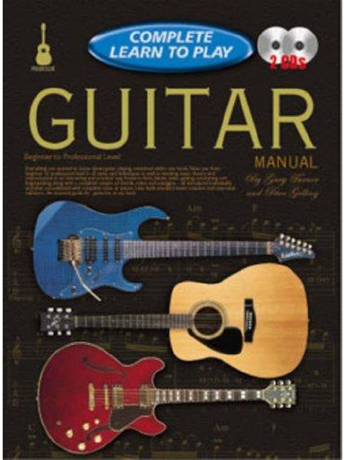 Complete Learn To Play Guitar Manual Book & CDs Beginner to Professional S141