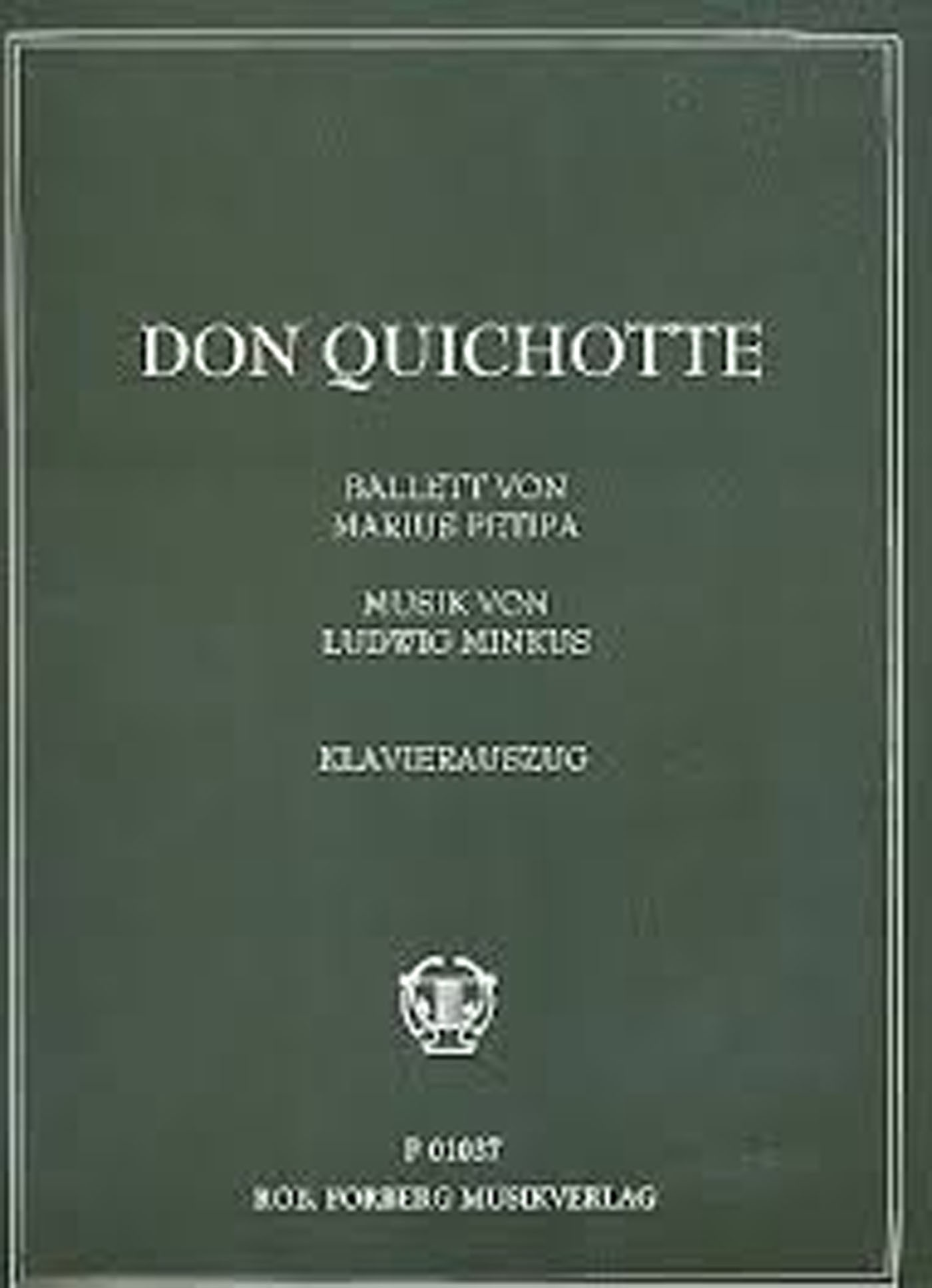 Don Quichotte Ballet Ludwig Minkus Piano Reduction Book F01037 Klavierauszug S16