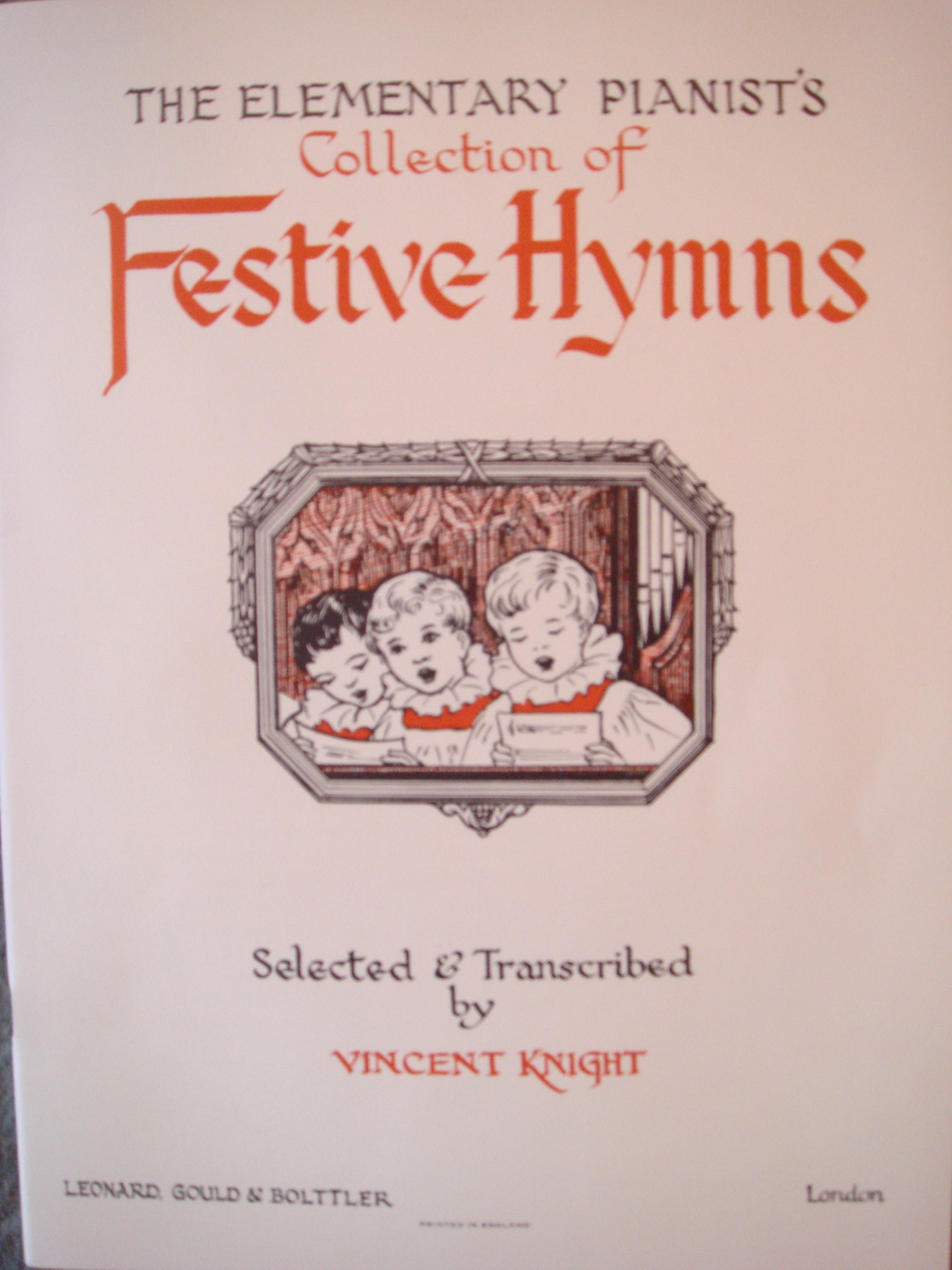 The Elementary Pianist's Collection Of Festive Hymns Piano Sacred Songs Book S89