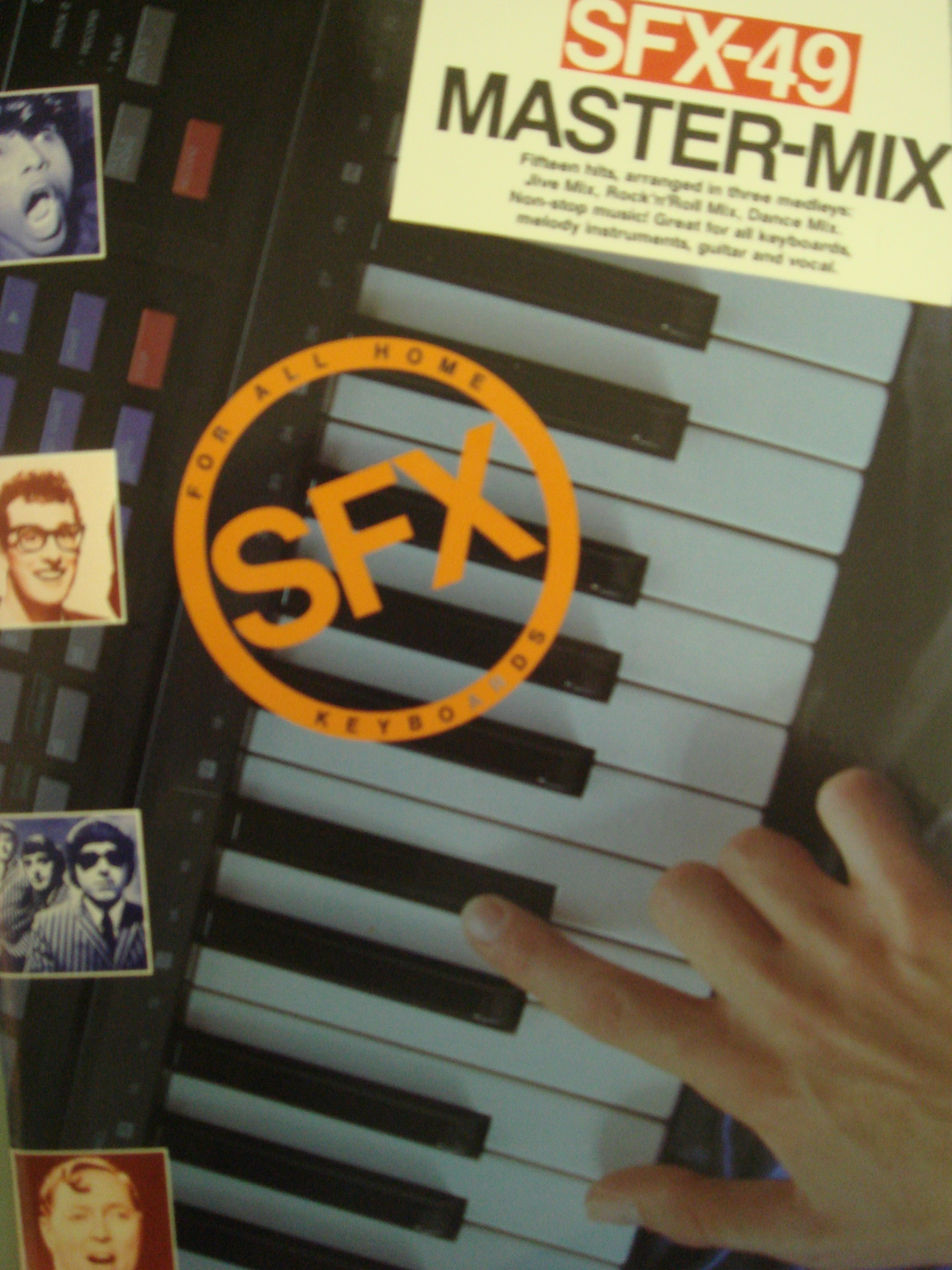 SFX-49 Master Mix Book Electronic Keyboard Guitar & Vocals 15 Hits in 3 Medleys S140