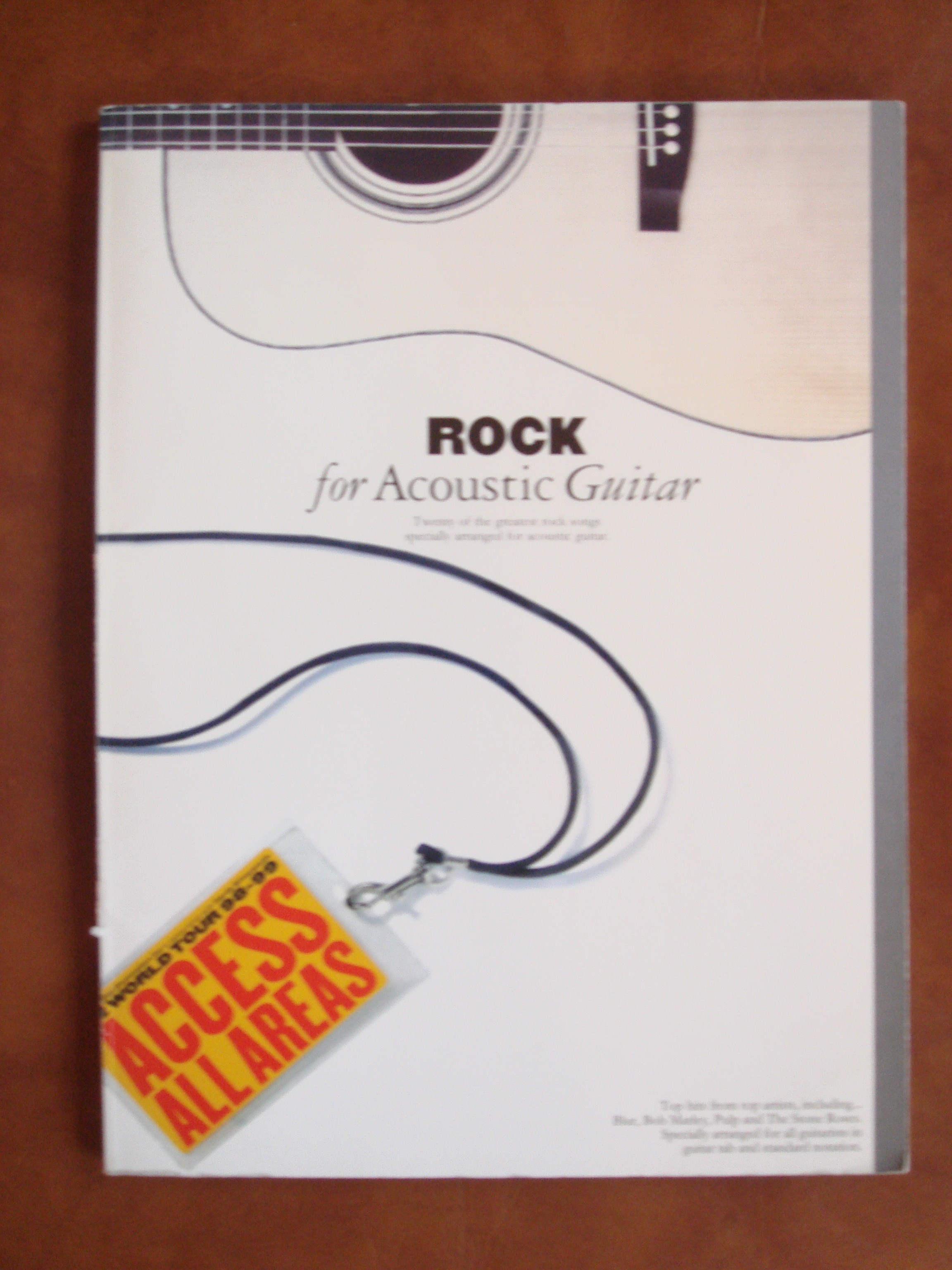Rock For Acoustic Guitar Book 20 Of The Greatest Rock Songs Tab & Notes S141
