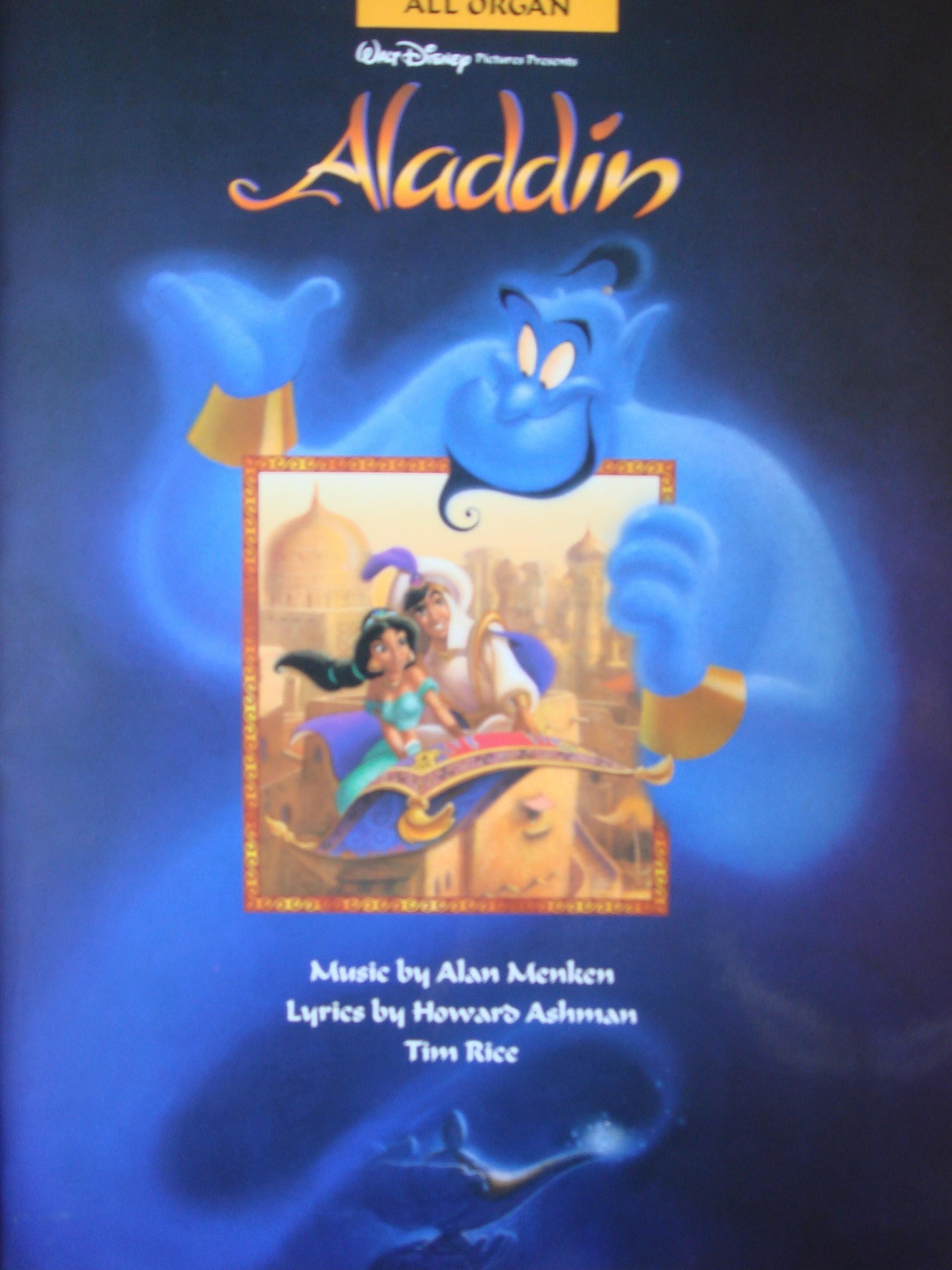 Aladdin All Organ Book Easy Disney Film Movie Soundtracks Alan Menken S96