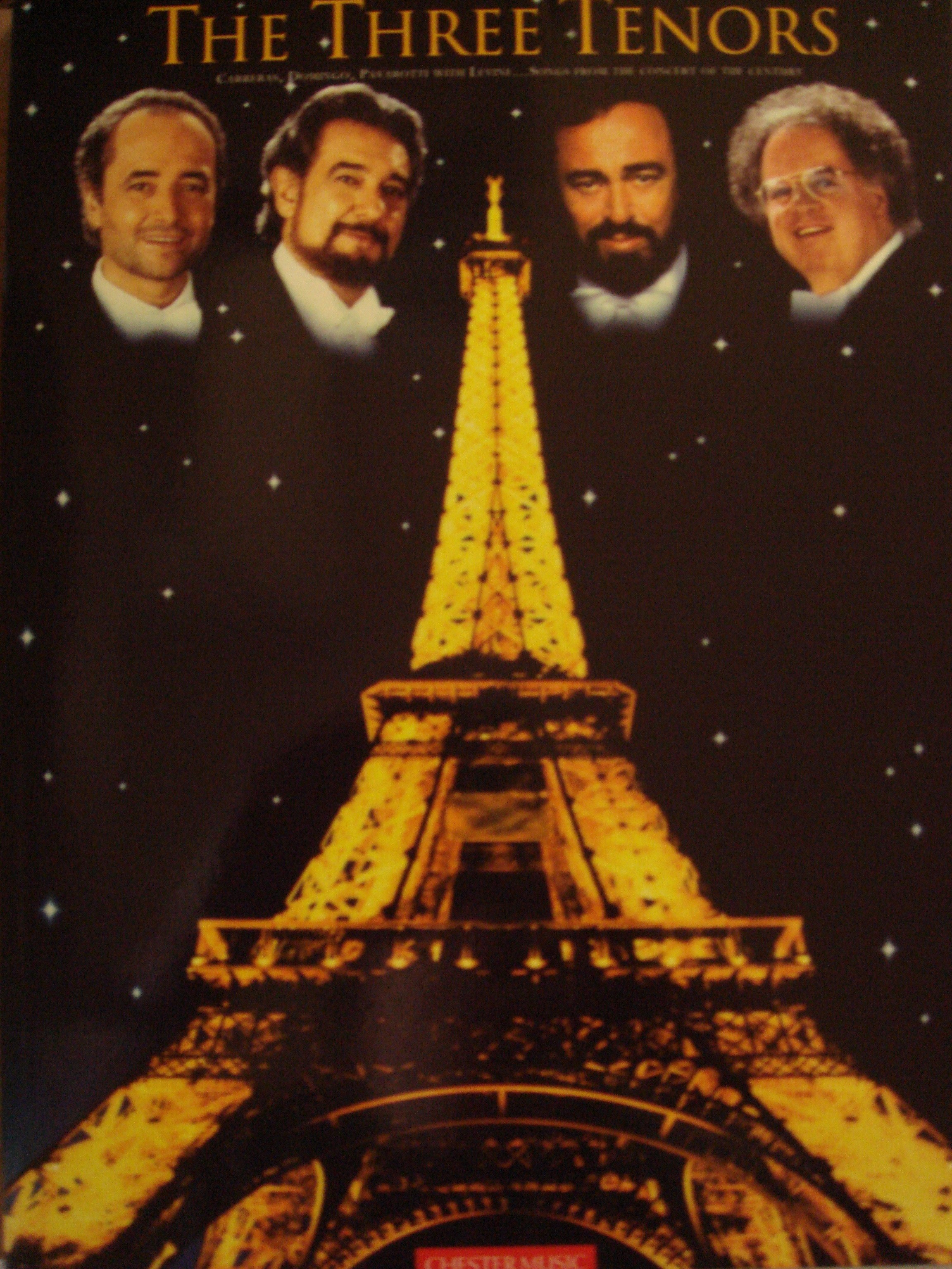 The Three Tenors World Cup Celebration Concert Paris Voice Piano Book S94