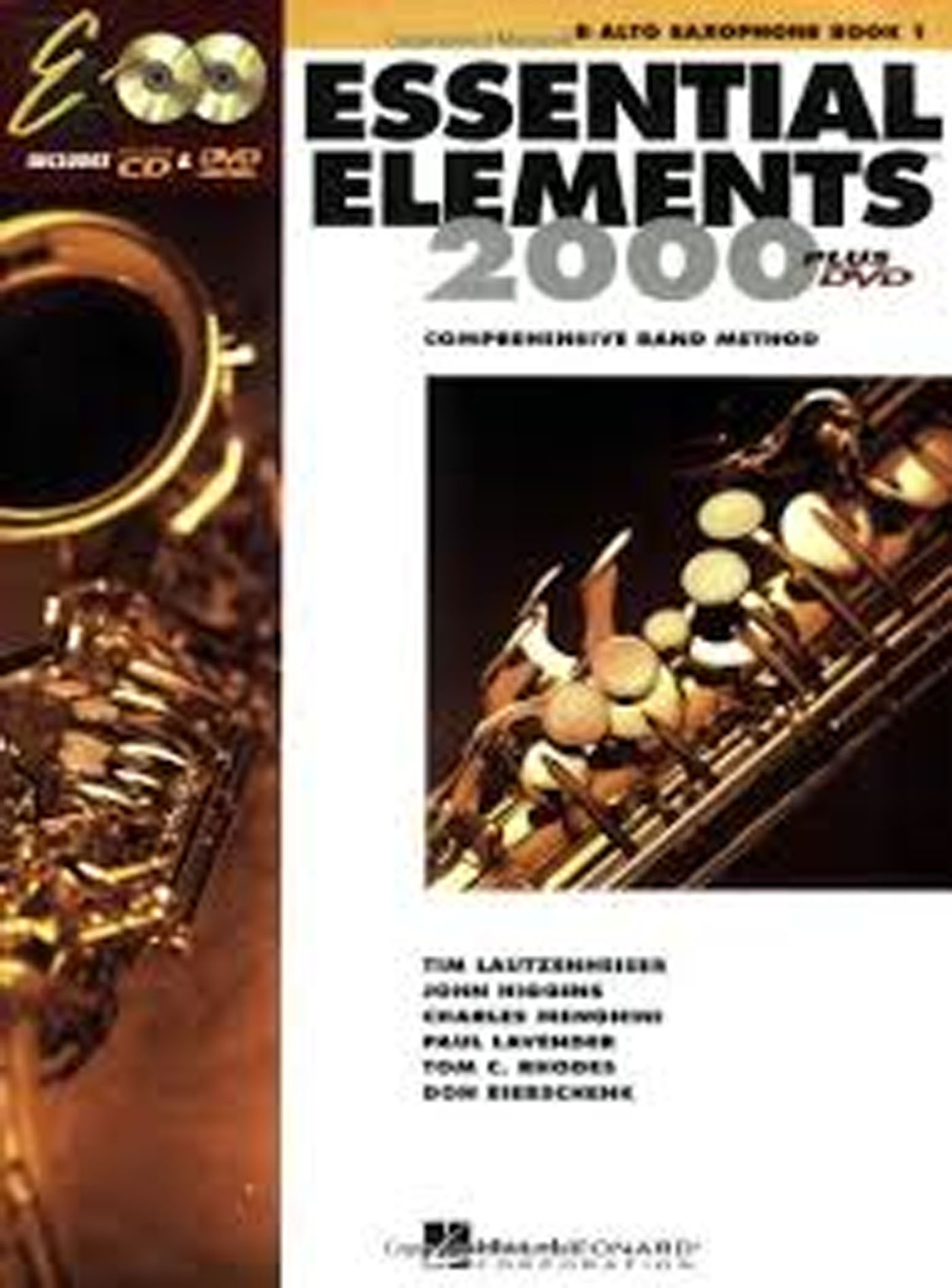 Essential Elements 2000 Book 1 & CD DVD Eb Alto Saxophone Comp Band Method S140