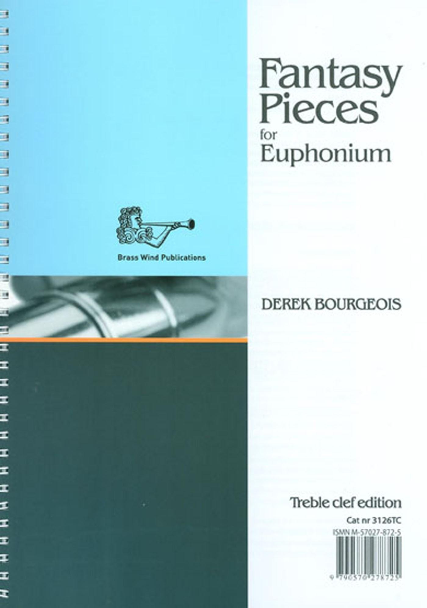 Fantasy Pieces For Euphonium Book Treble Clef Edition Derek Bourgeois S148