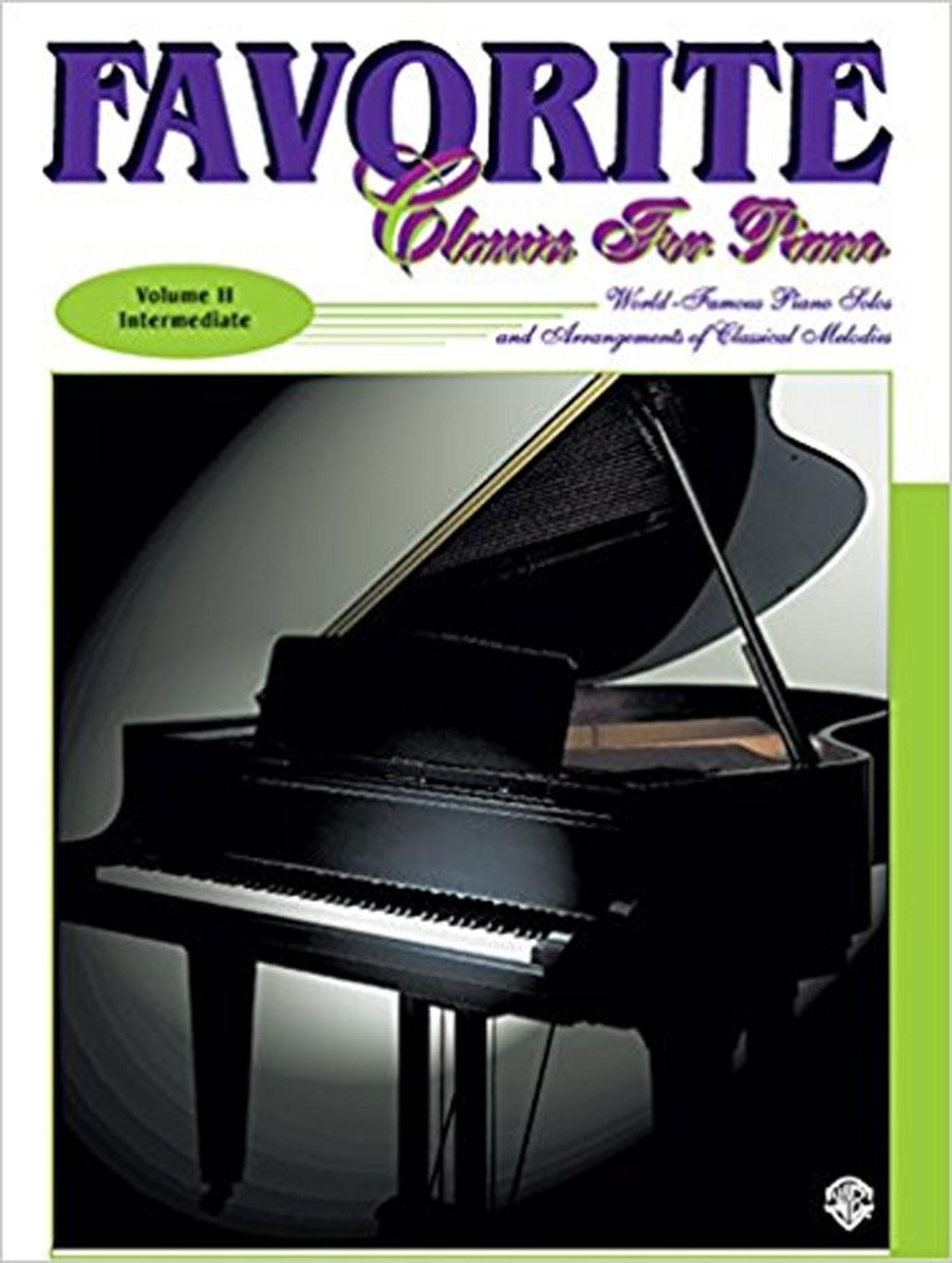 Favorite Classics for Piano Vol II Intermediate World Famous Solos Book & CD S137