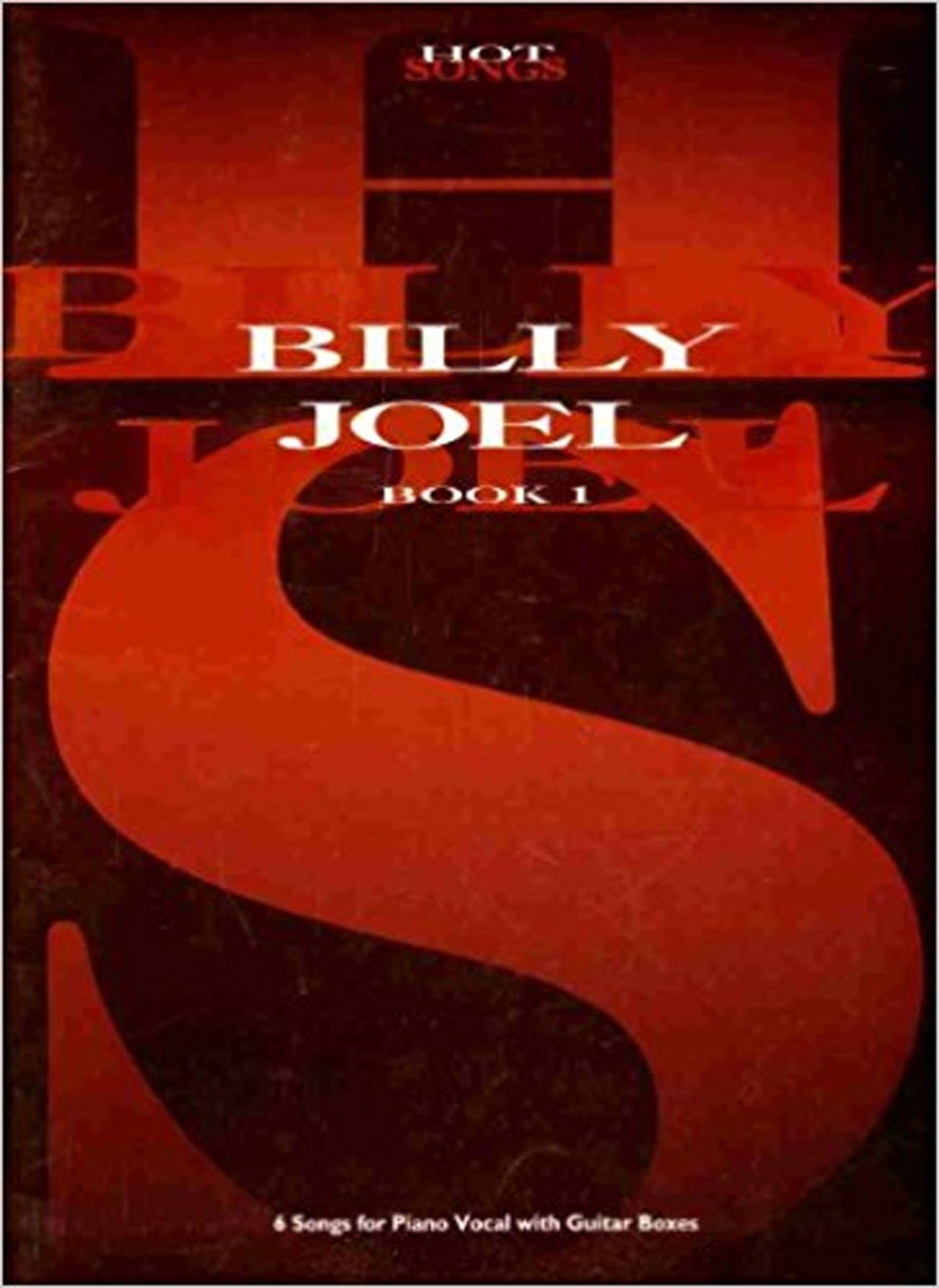 Billy Joel Hot Songs Book 1 Piano Vocal Guitar Chords Boxes S135