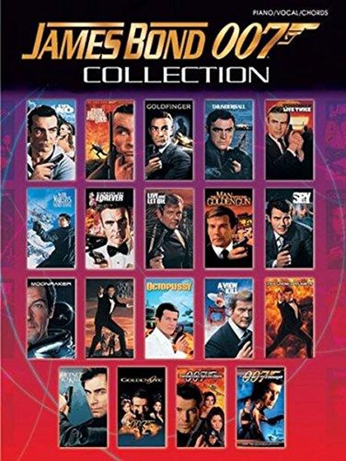James Bond 007 Collection Piano Vocal Chords Book Film Spy Soundtracks S166
