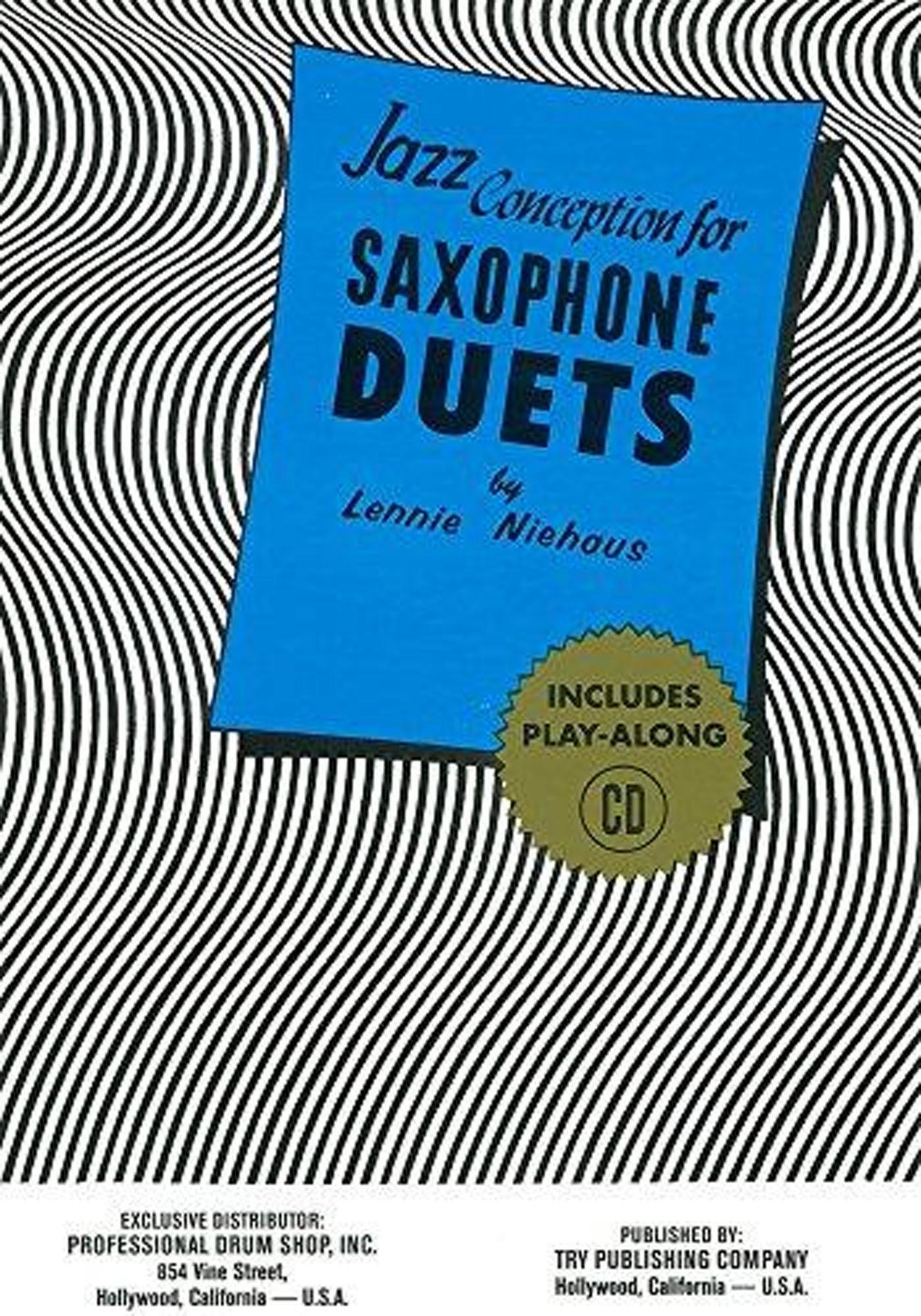 Jazz Conception For Saxophone Duets Book & CD Lennie Niehaus S166