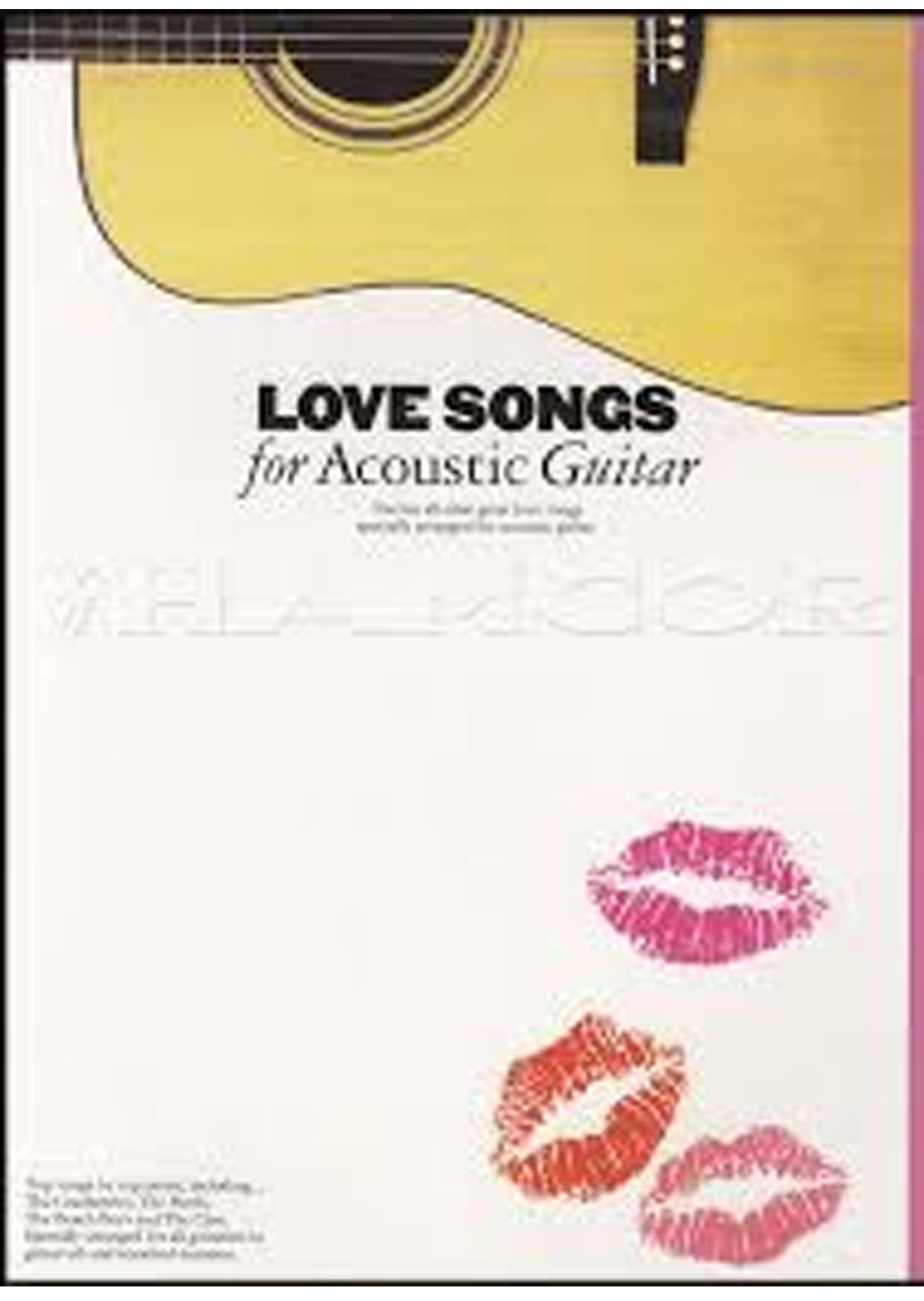Love Songs For Acoustic Guitar Book Notes Tab Chords The Cure Sting
