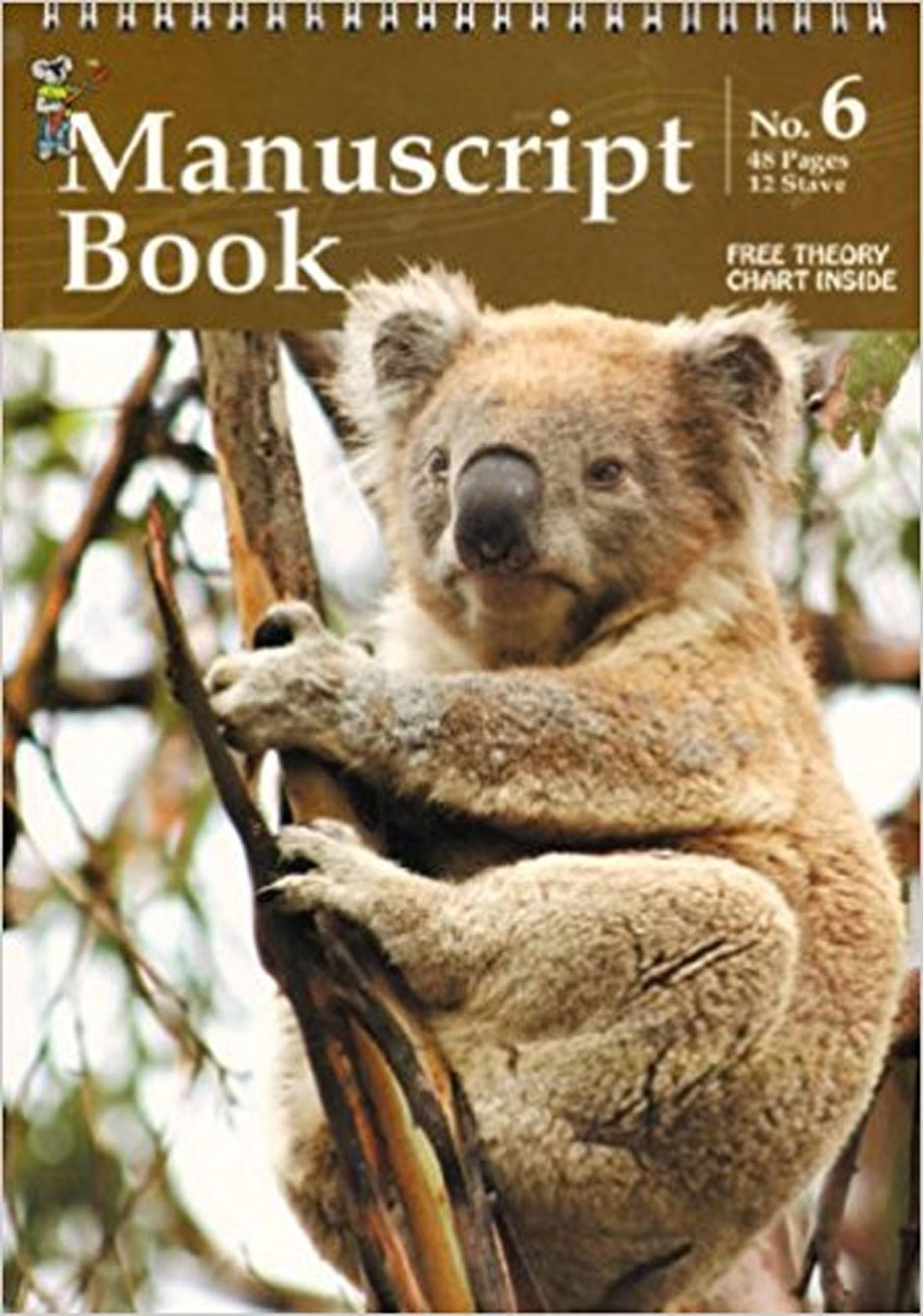Koala Manuscript No 6 12 Stave 48 Pages Top Spiral Manuscript Paper S94