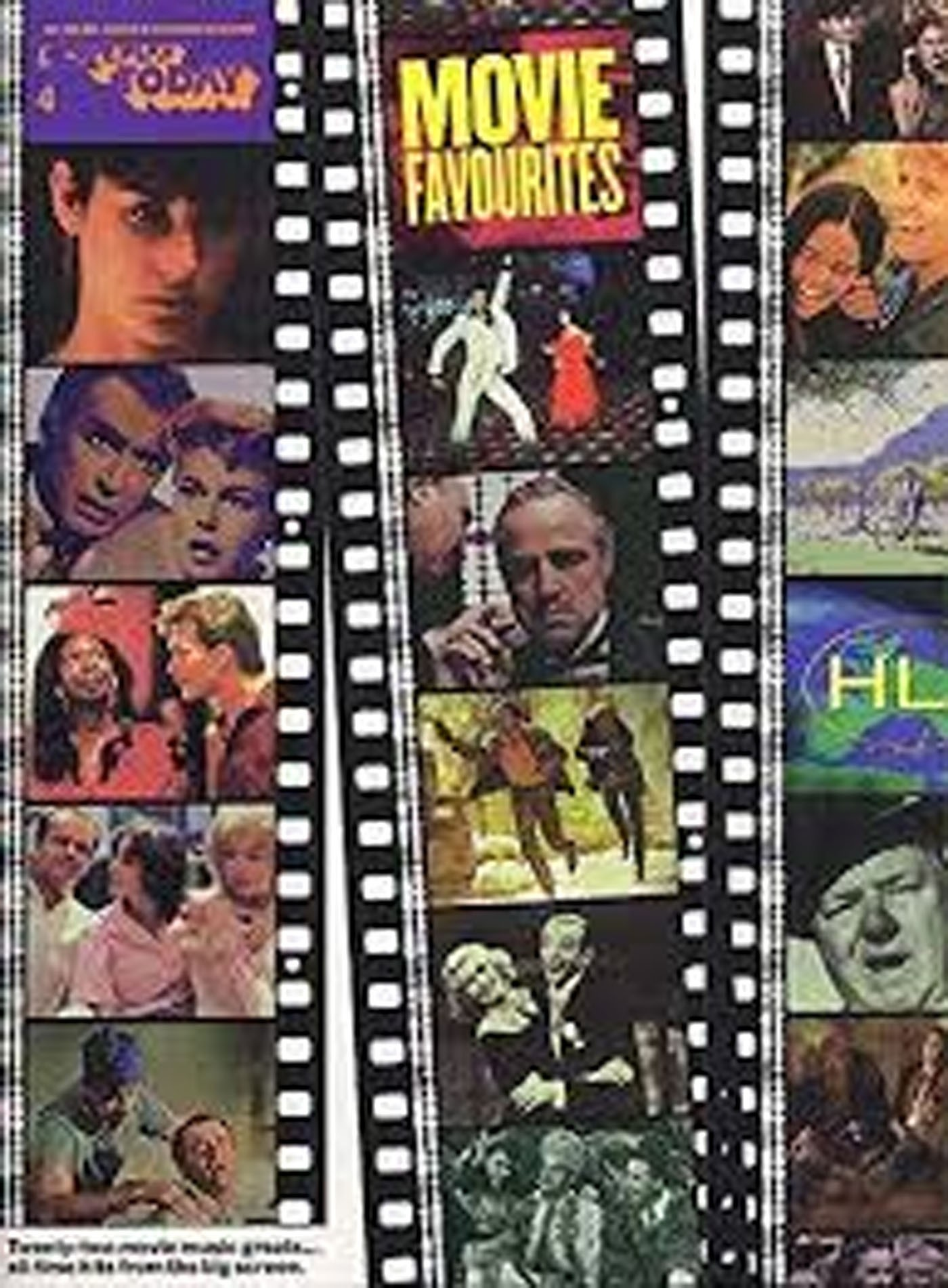 Movie Favourites E-Z Play Today Book 4 Big Notes Keyboard Film Soundtracks S158