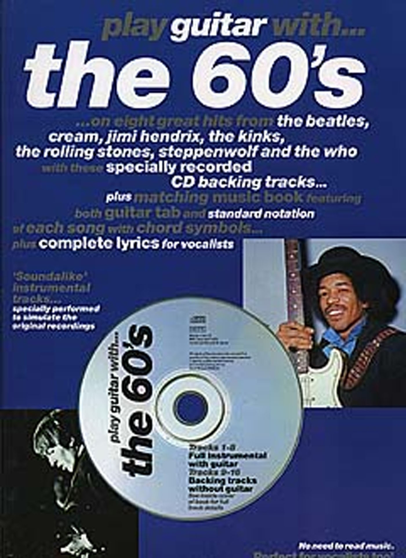 Play Guitar With The 60's Book & CD  Tab Notation Chords Complete Lyrics S135