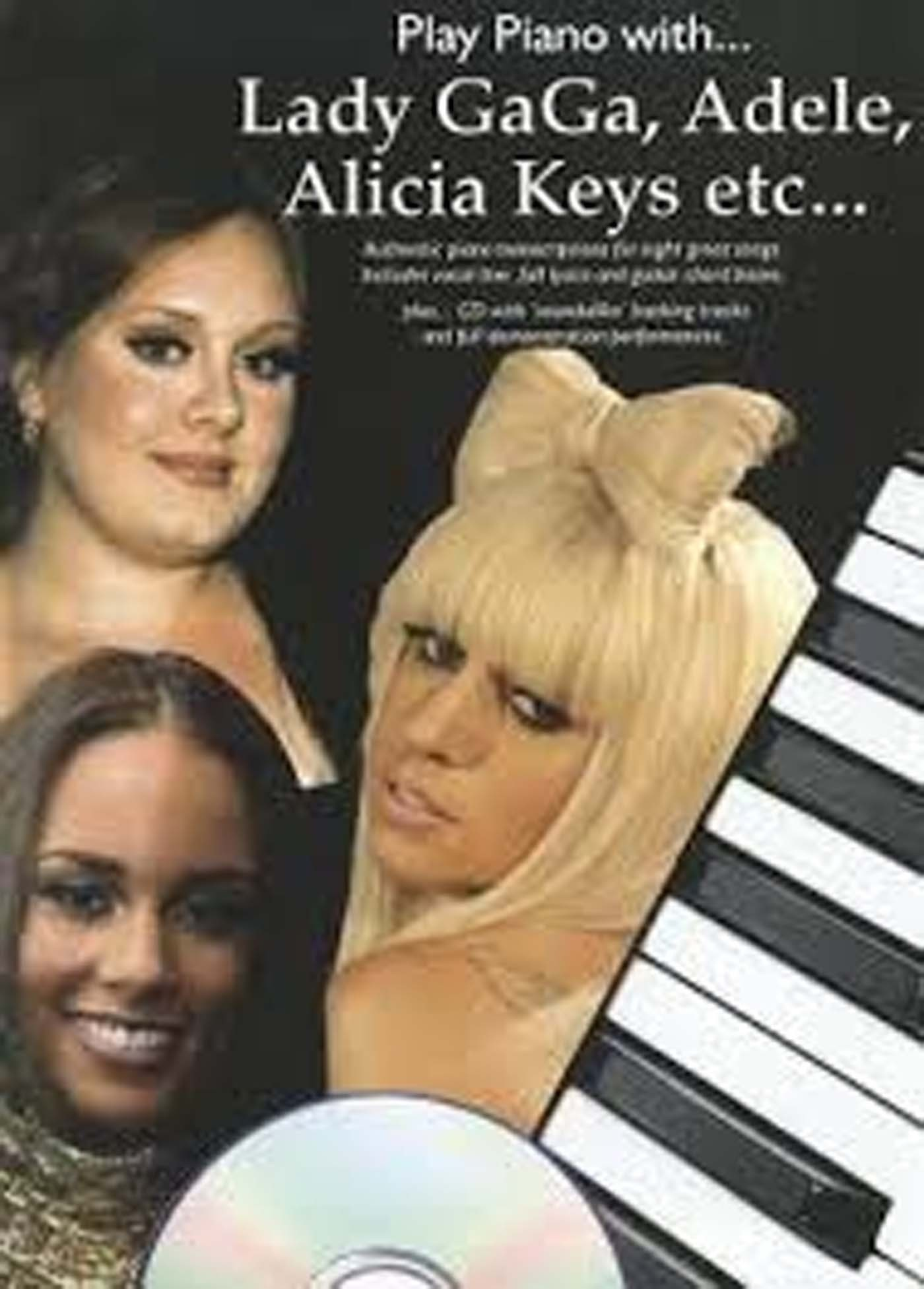 Play Piano With Lady Gaga Adele Alicia Keys etc Book & CD Songs Chords S168