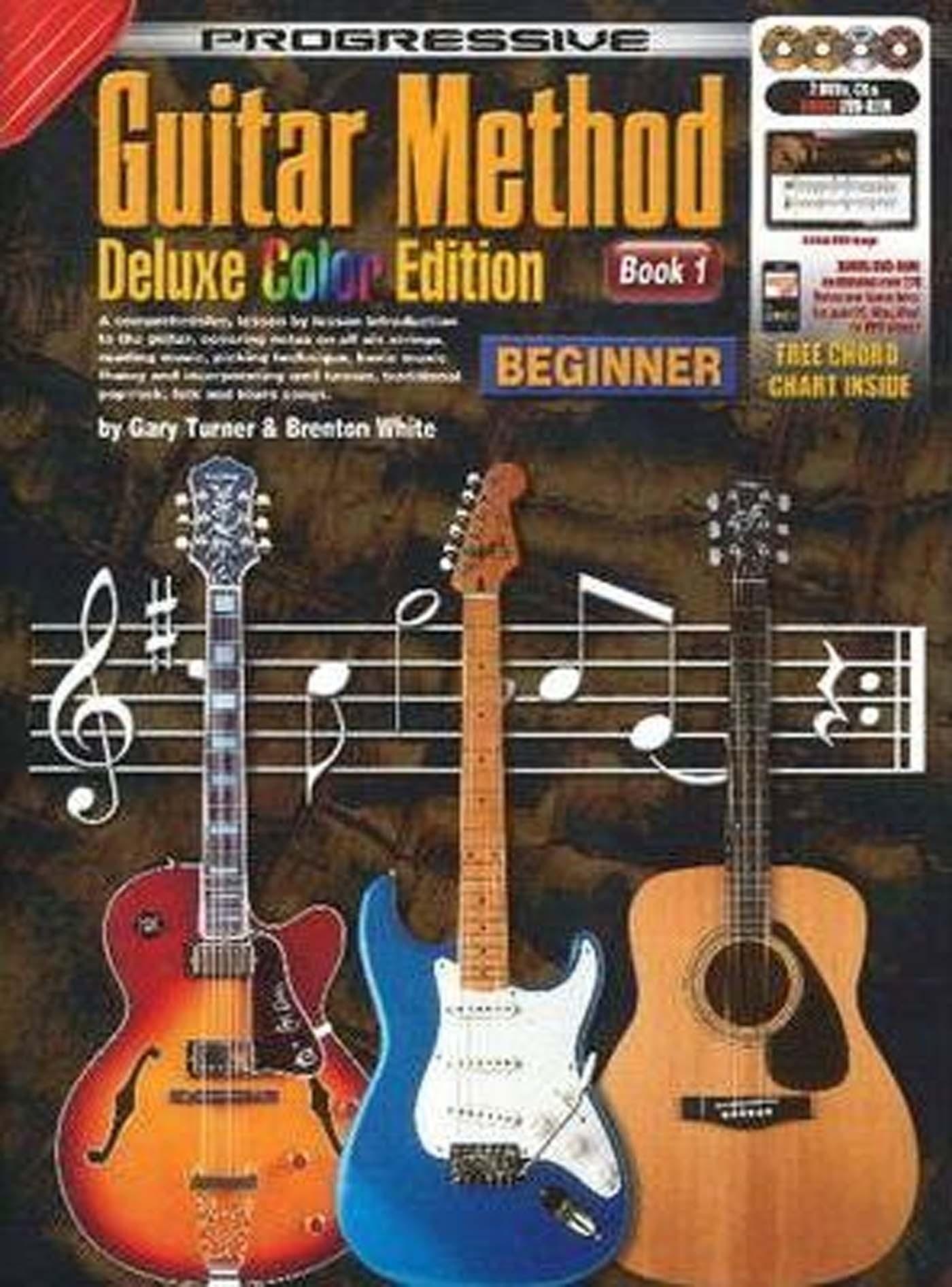 Progressive Guitar Method Deluxe Colour Edition Beginner Book 1 CD DVD & Rom S52