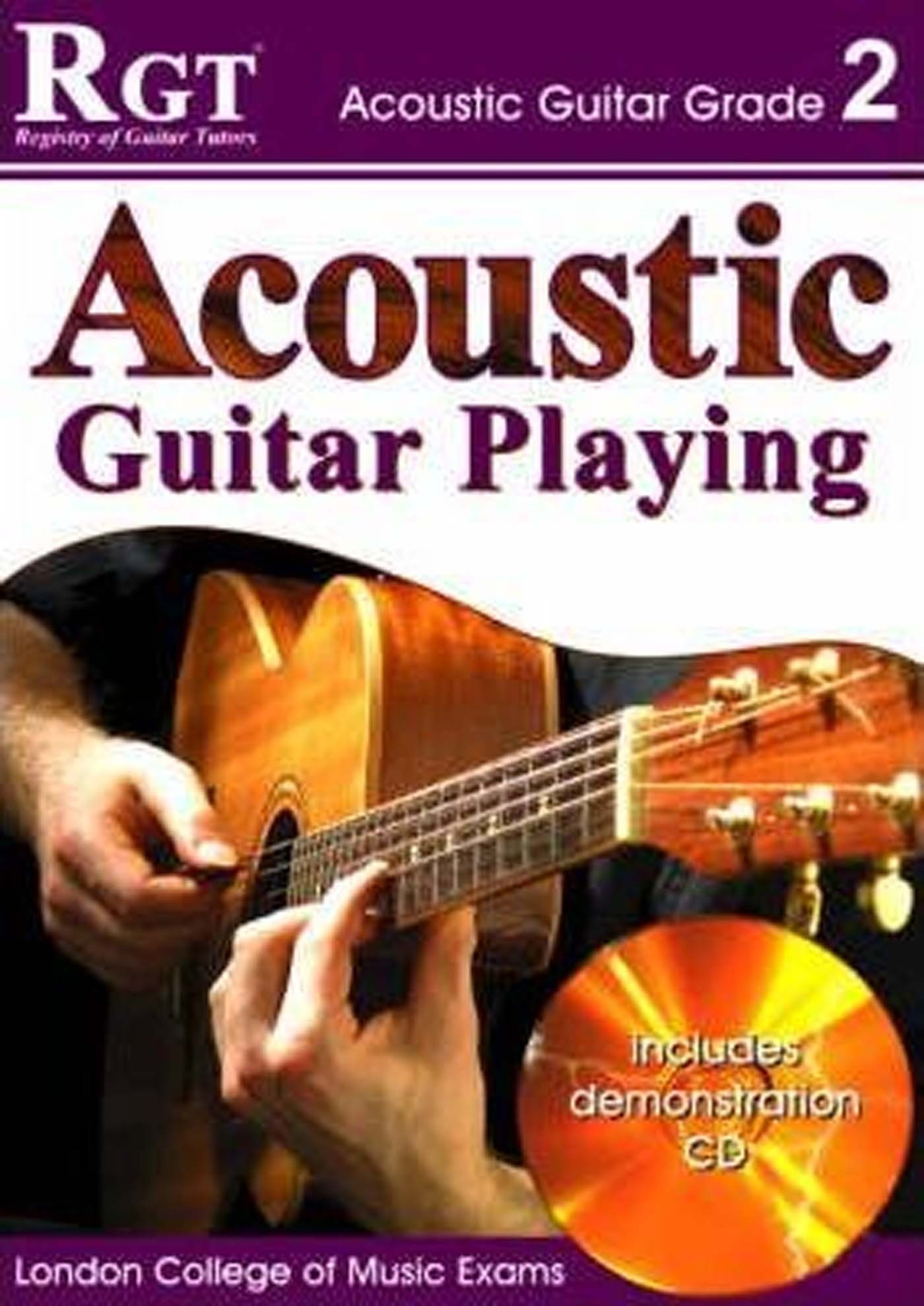 RGT Exam Acoustic Guitar Playing LCM Grade Book 2 & CD Skinner & Harwood S133