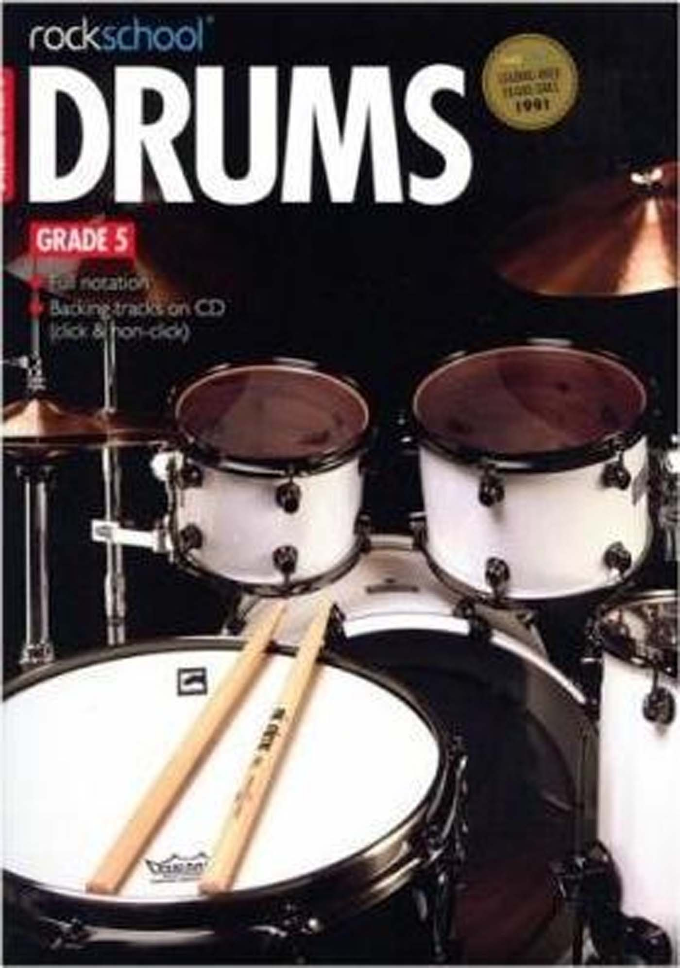 Rockschool Drums Grade 5 Book & CD for Exams S162
