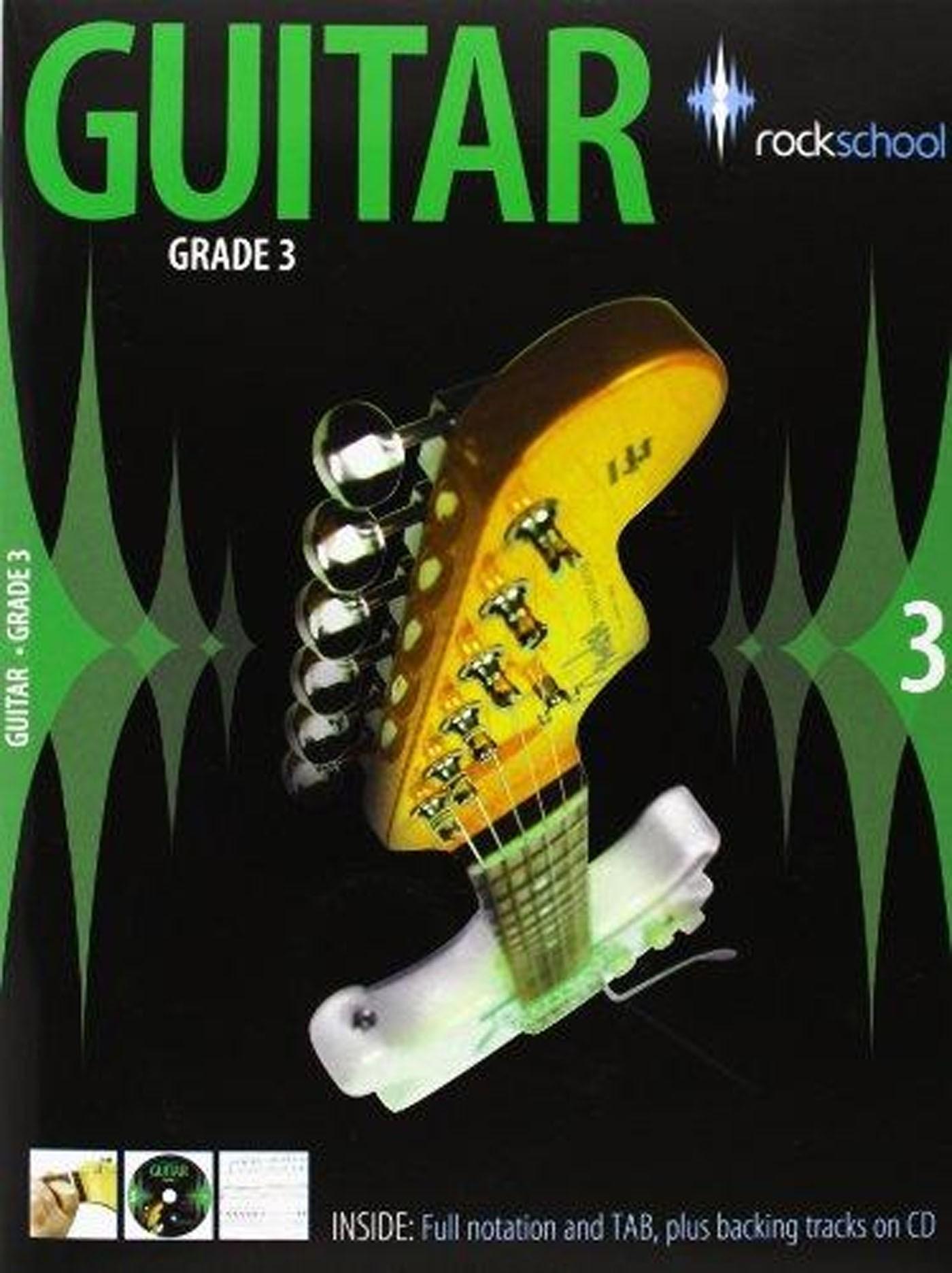 Rockschool Guitar Grade 3 Book & CD Electric 2006 + Lead Exam Prep S135
