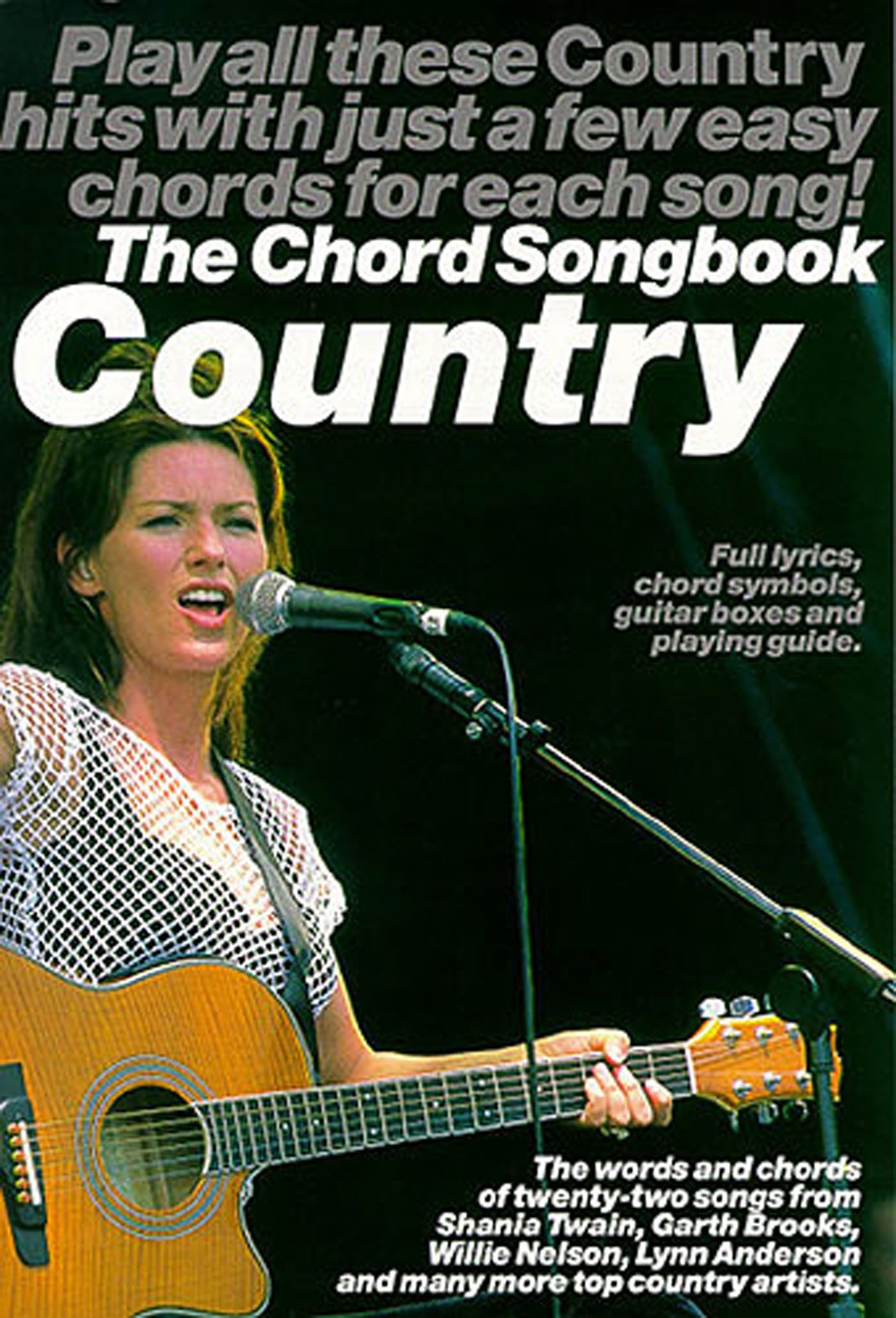 The Chord Songbook Country 22 Songs Easy Guitar Chords Book S135