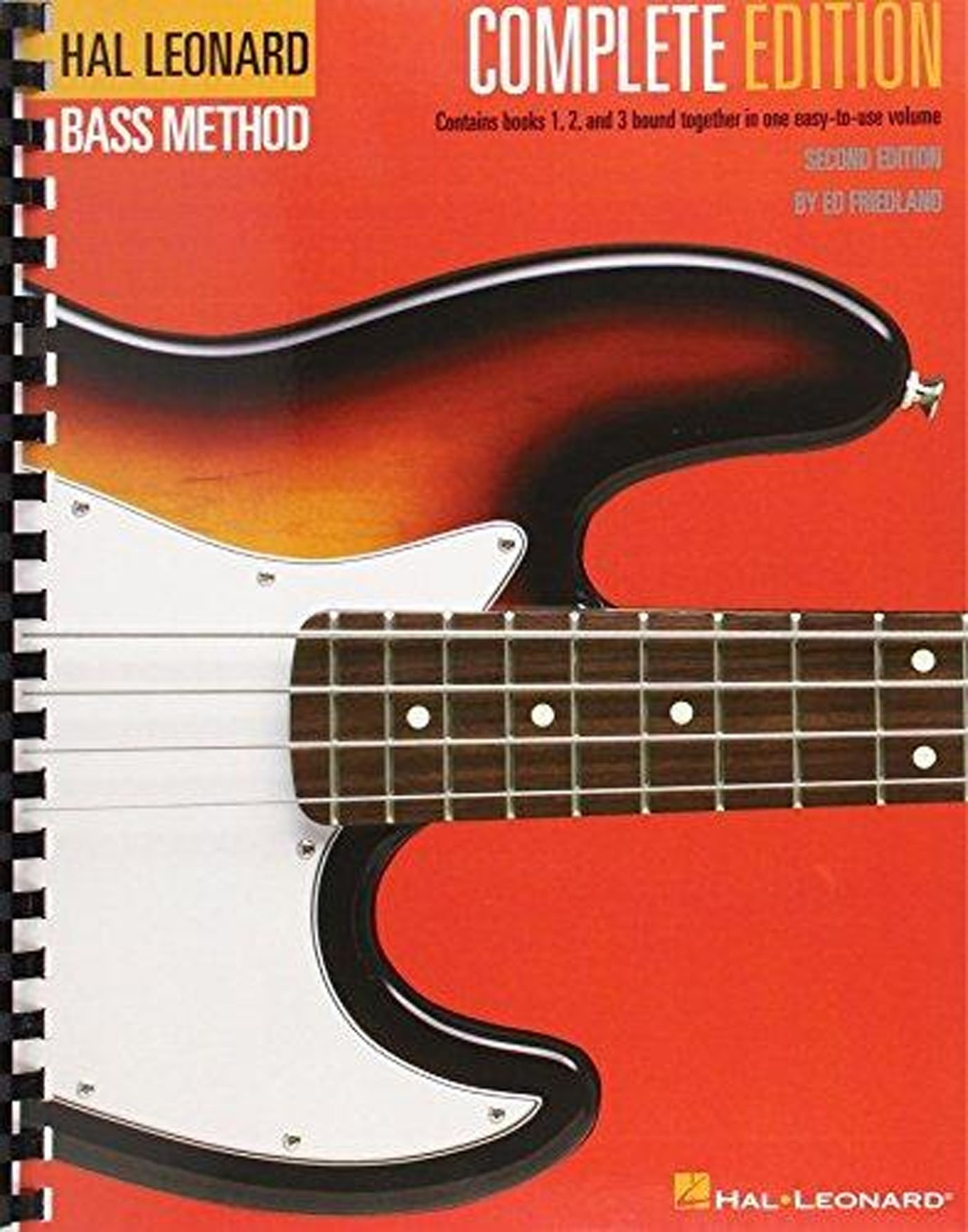 The Complete Edition Bass Method Spiral Bound Guitar Books 1-3 Notes & TAB S168