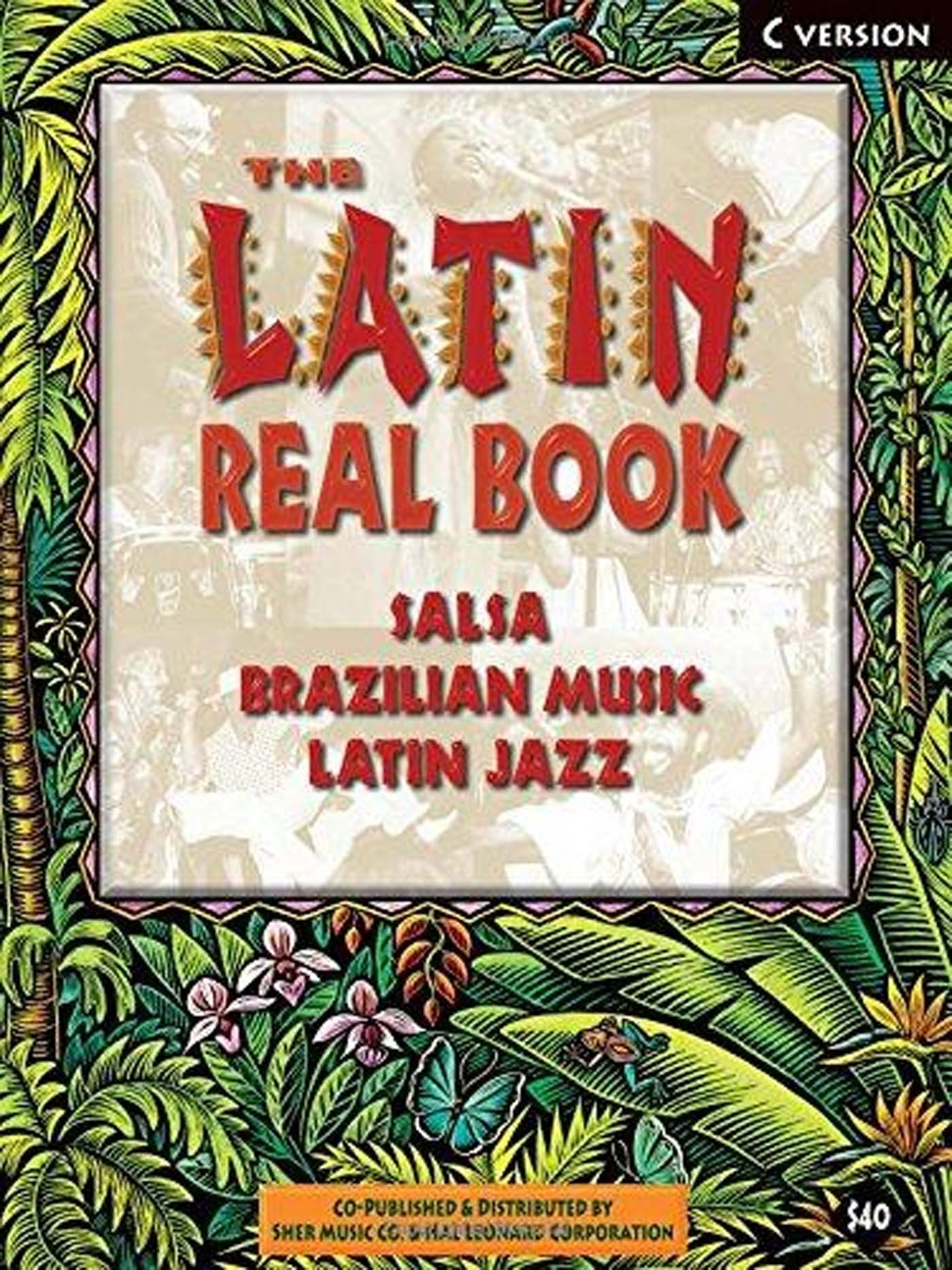 The Latin Real Book C Version Spiral Bound Salsa Brazilian Music Jazz S125