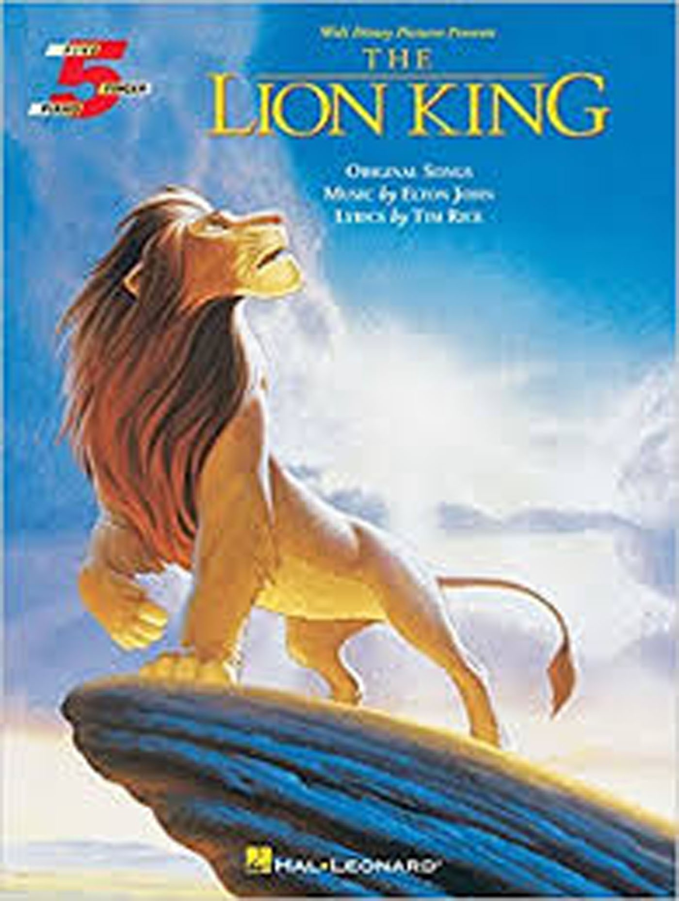 The Lion King Five Finger Piano Disney Film Soundtracks Songs Book S158