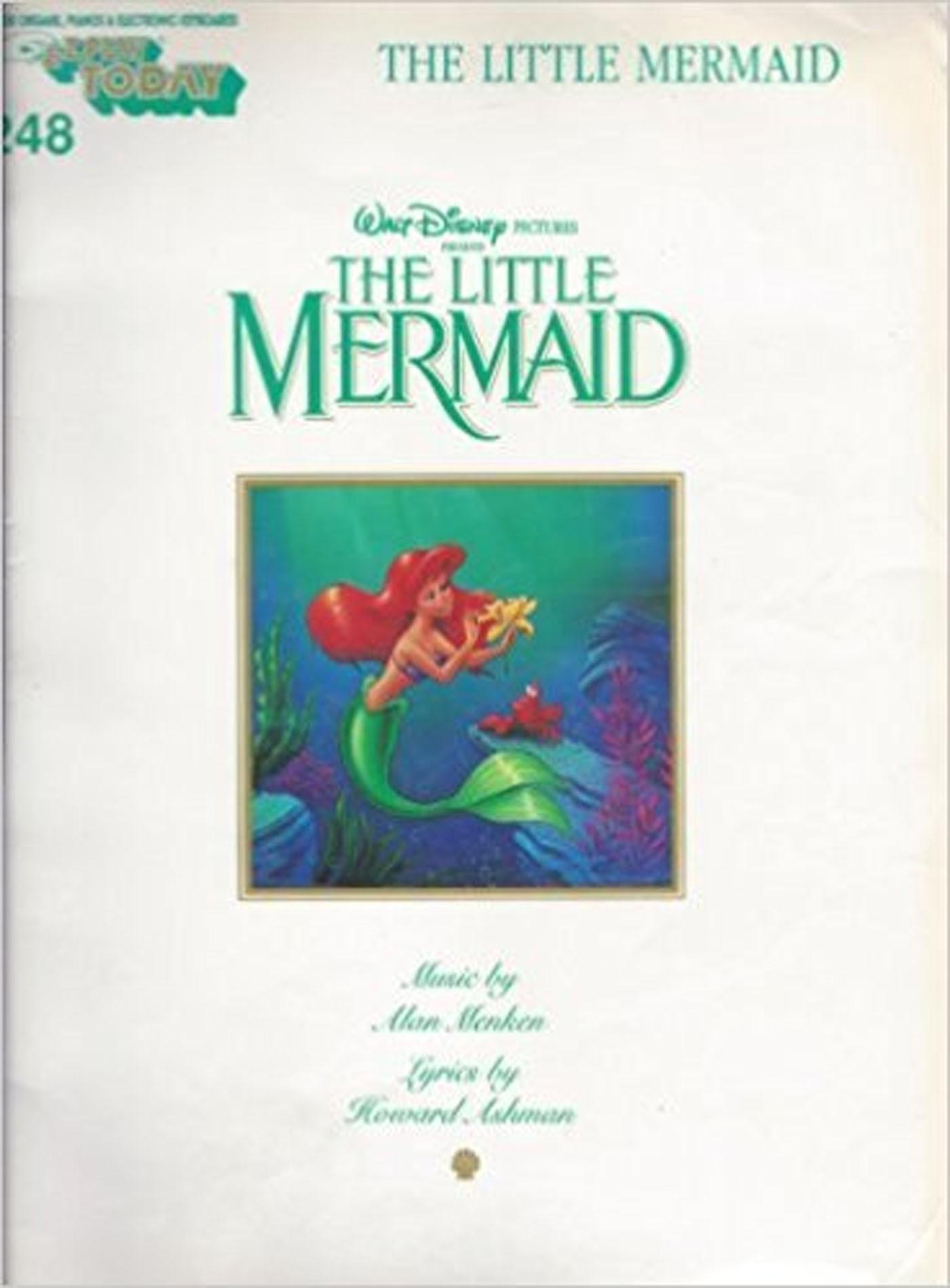 The Little Mermaid Piano Electronic Keyboard Organ Book E-Z Big Note Disney S96
