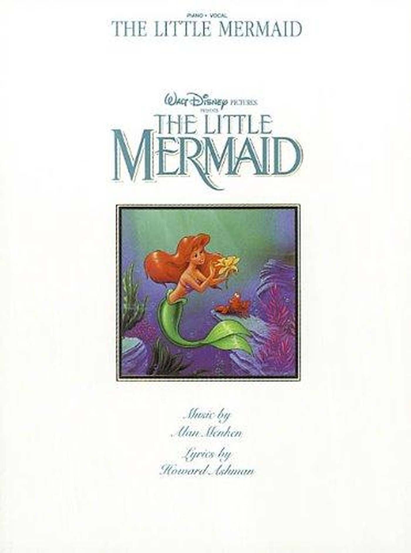 The Little Mermaid Piano Vocal Book Disney Film Movie Soundtracks S96