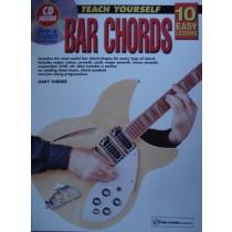 10 Easy Lessons Teach Yourself Bar Chords Tutor Book CD Guitar Beginner S107 B59