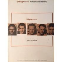 Where We Belong Boyzone Songbook Music Book Lyrics Piano Voice Guitar Chords S46